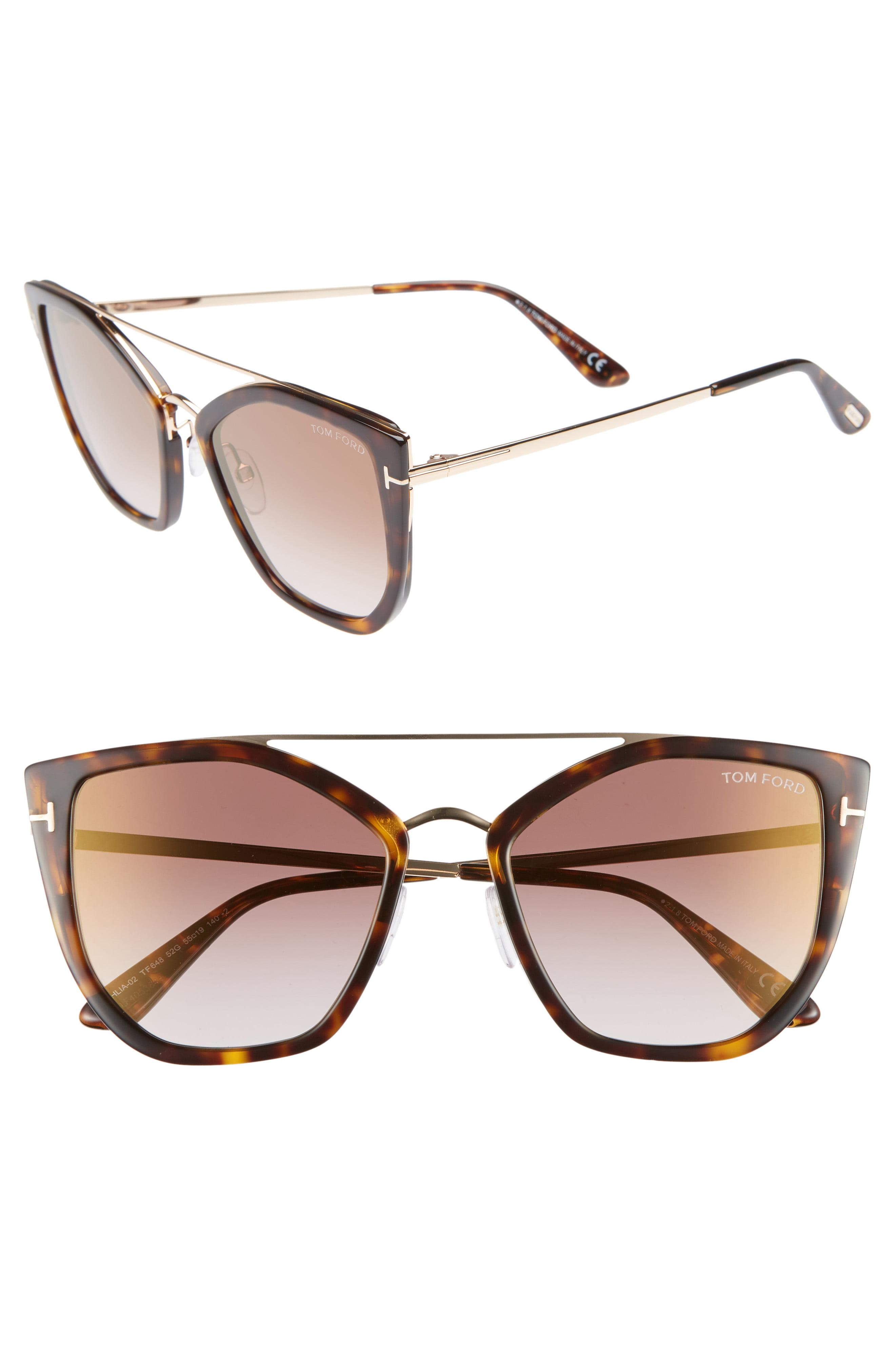 5b0139603d41 Tom Ford - Brown Dahlia 55mm Sunglasses - - Lyst. View fullscreen