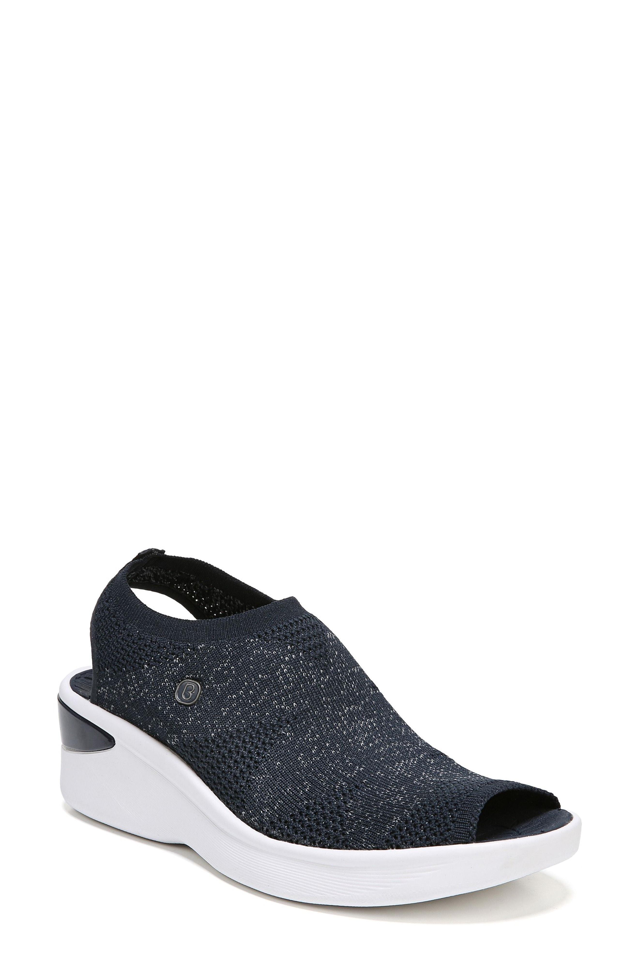 a6ea86dd3223 Lyst - Bzees Secret Peep Toe Knit Sneaker