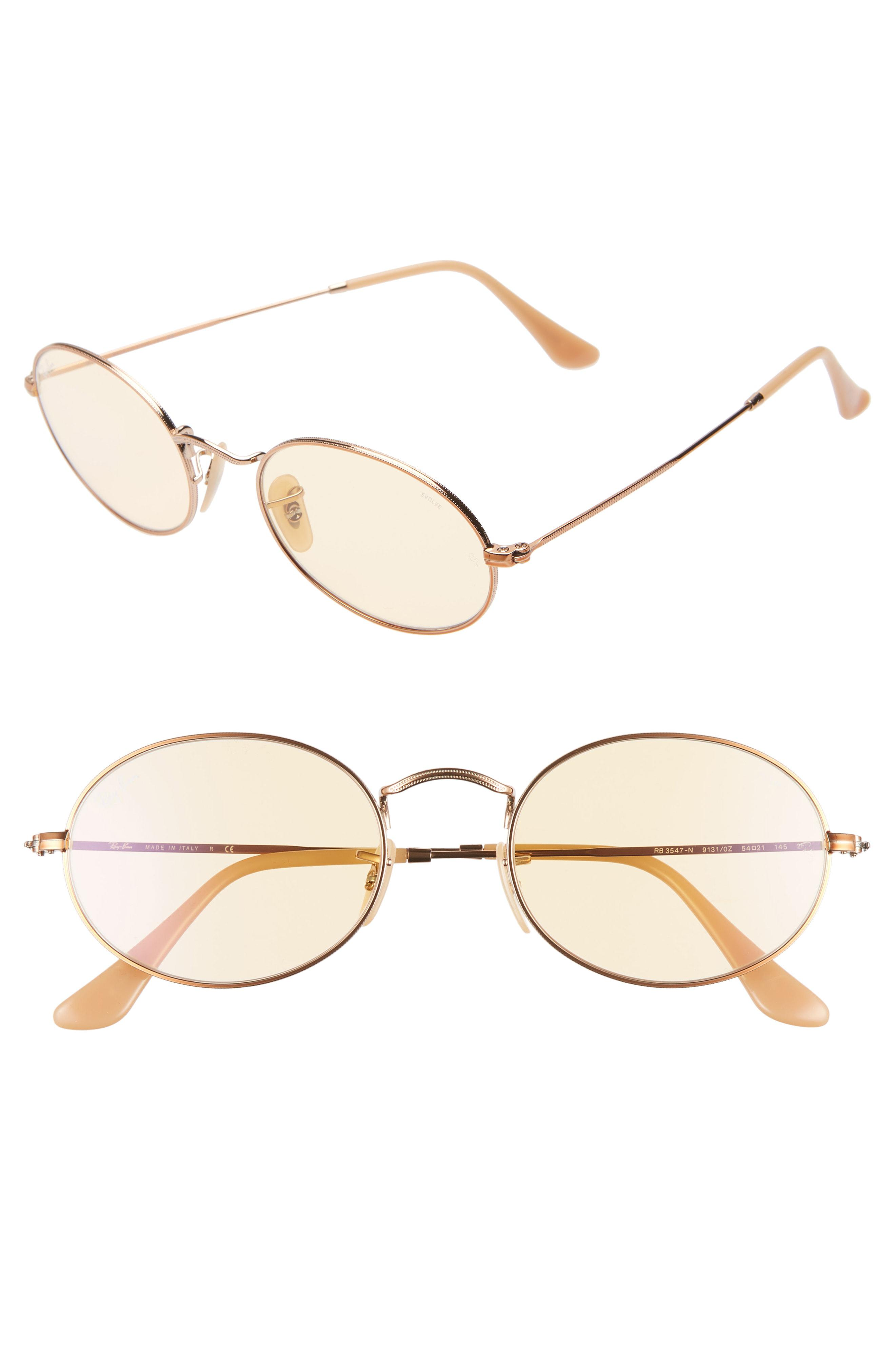 f775d3ab42 Lyst - Ray-Ban Evolve 54mm Polarized Oval Sunglasses in Metallic ...