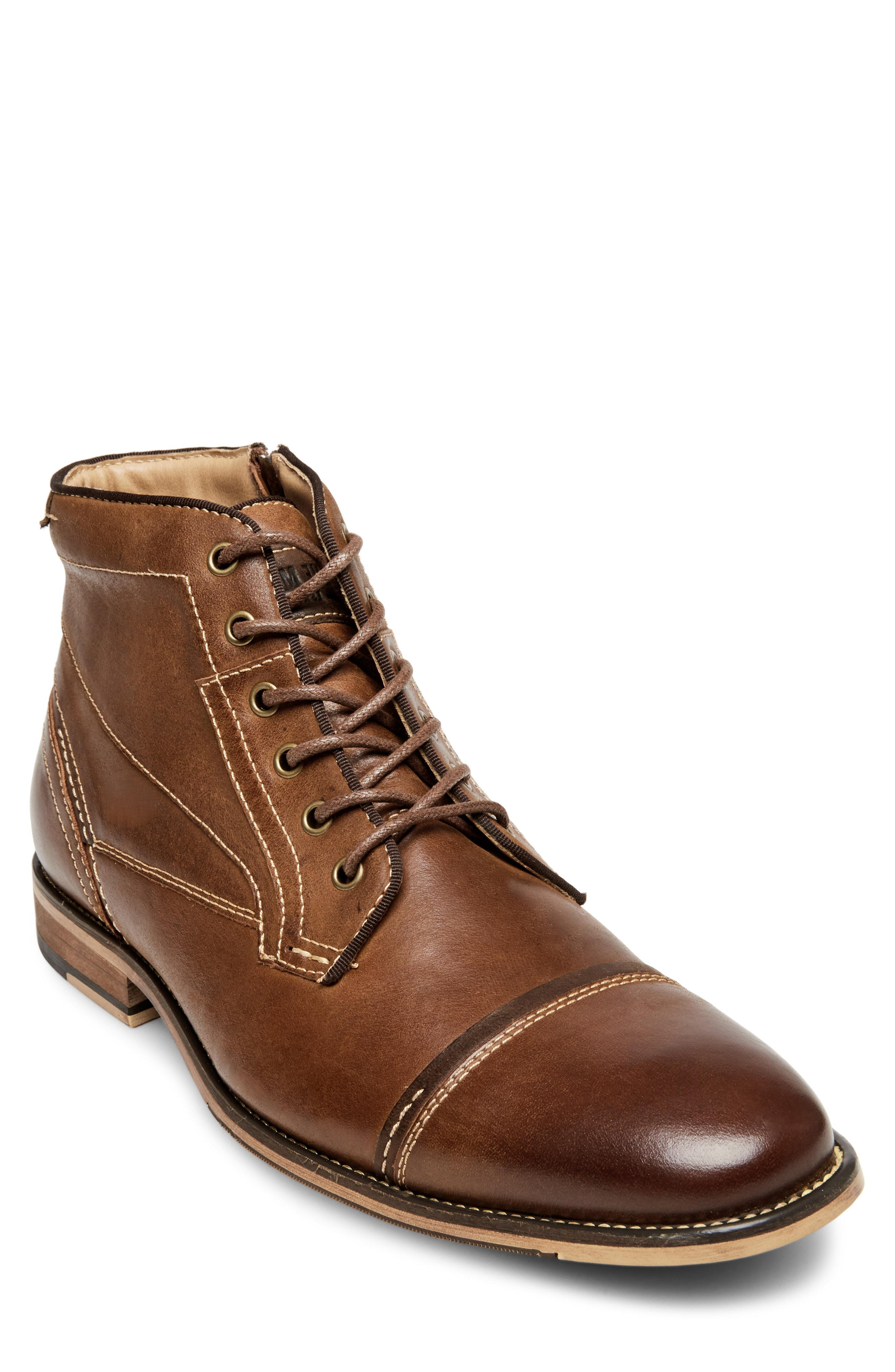 eebc378835175 Lyst - Steve Madden Jeffries Cap Toe Boot in Brown for Men