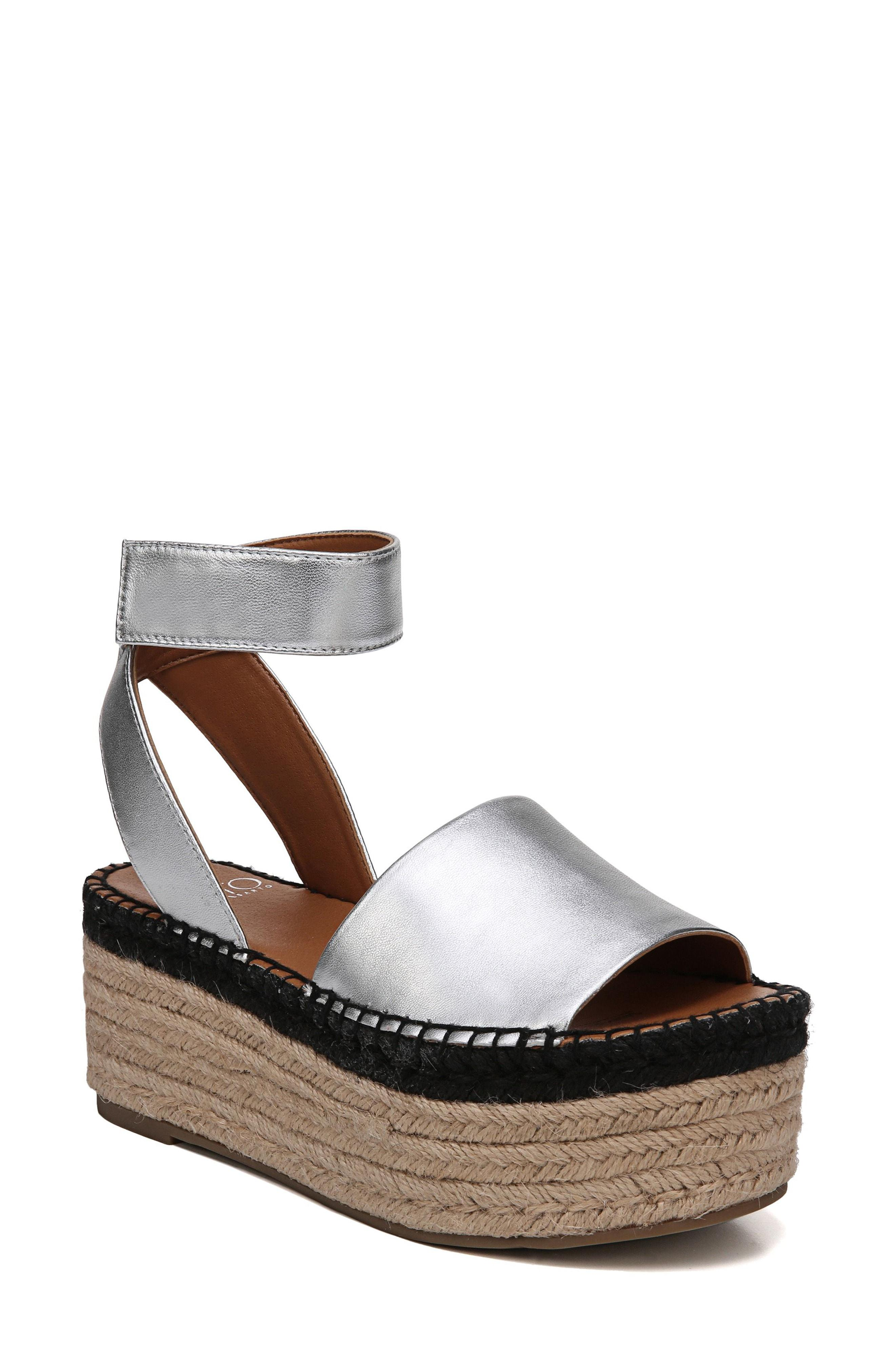 cd2f871c513 Lyst - Sarto Maisi Platform Espadrille Sandal in Metallic