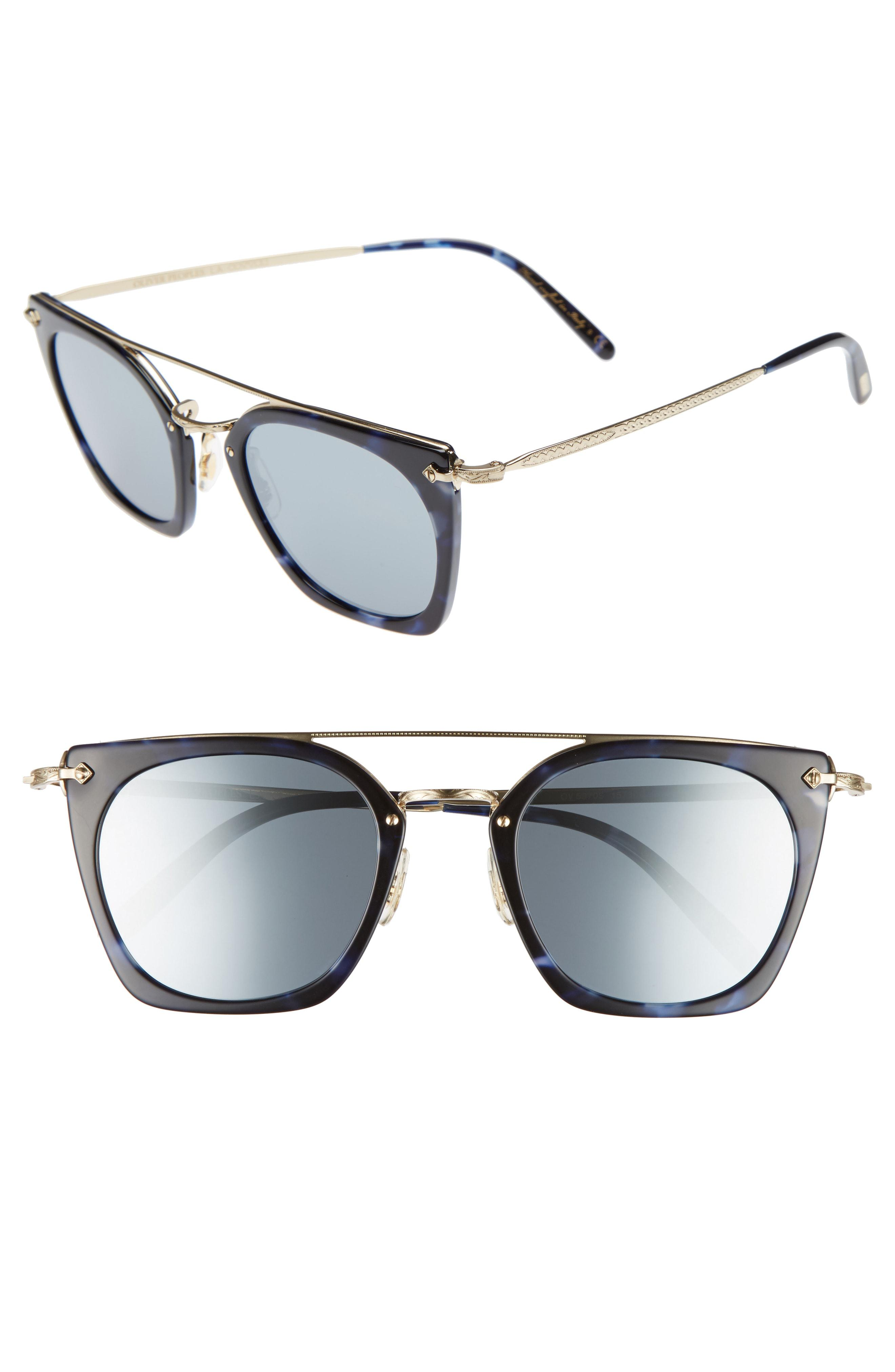937bc70a735bd Lyst - Oliver Peoples Dacette 50mm Square Aviator Sunglasses ...