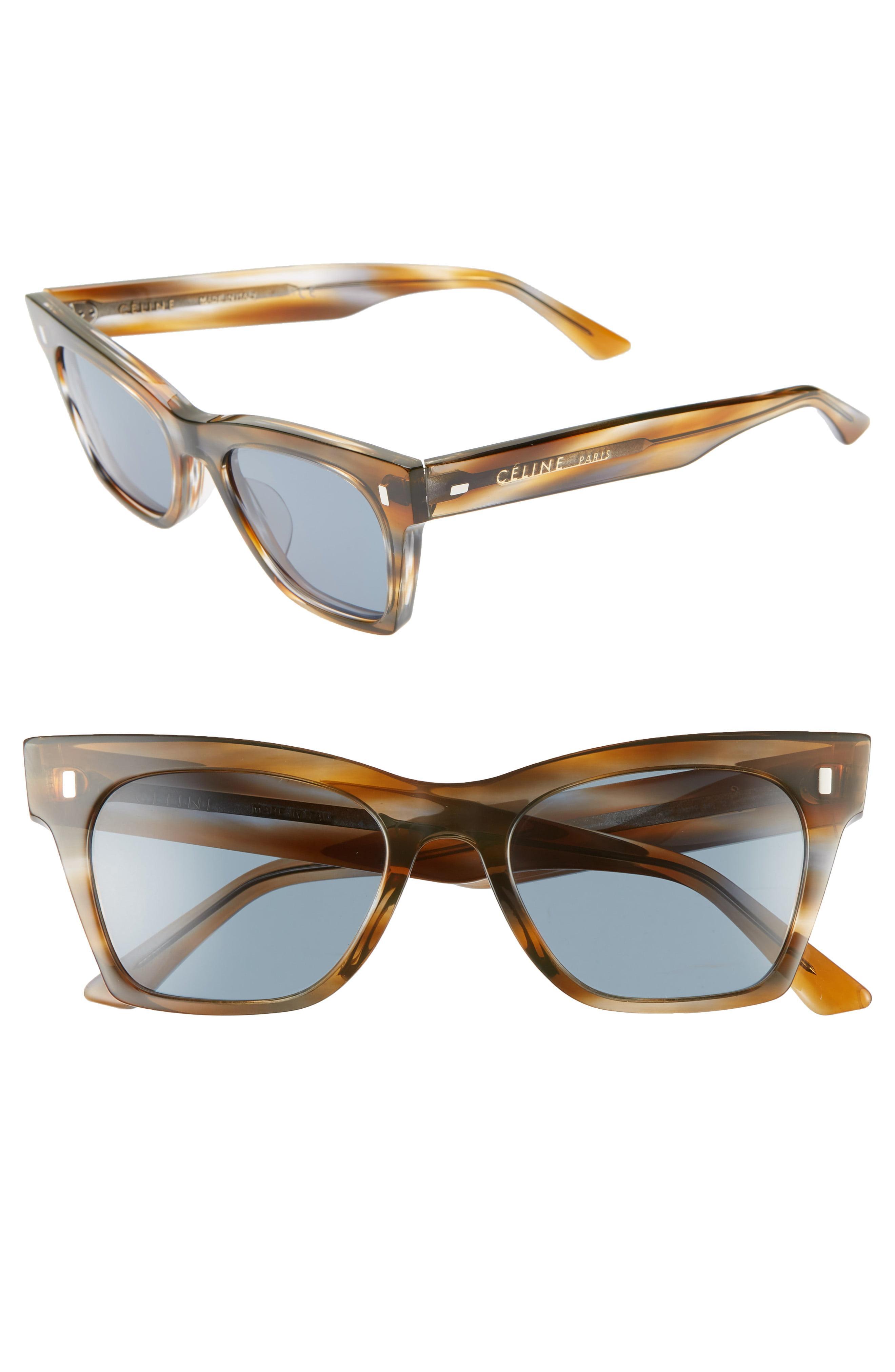 65805e9ca Lyst - Céline 51mm Sunglasses - Striped Blu/brown Hav/vint Blu in Brown