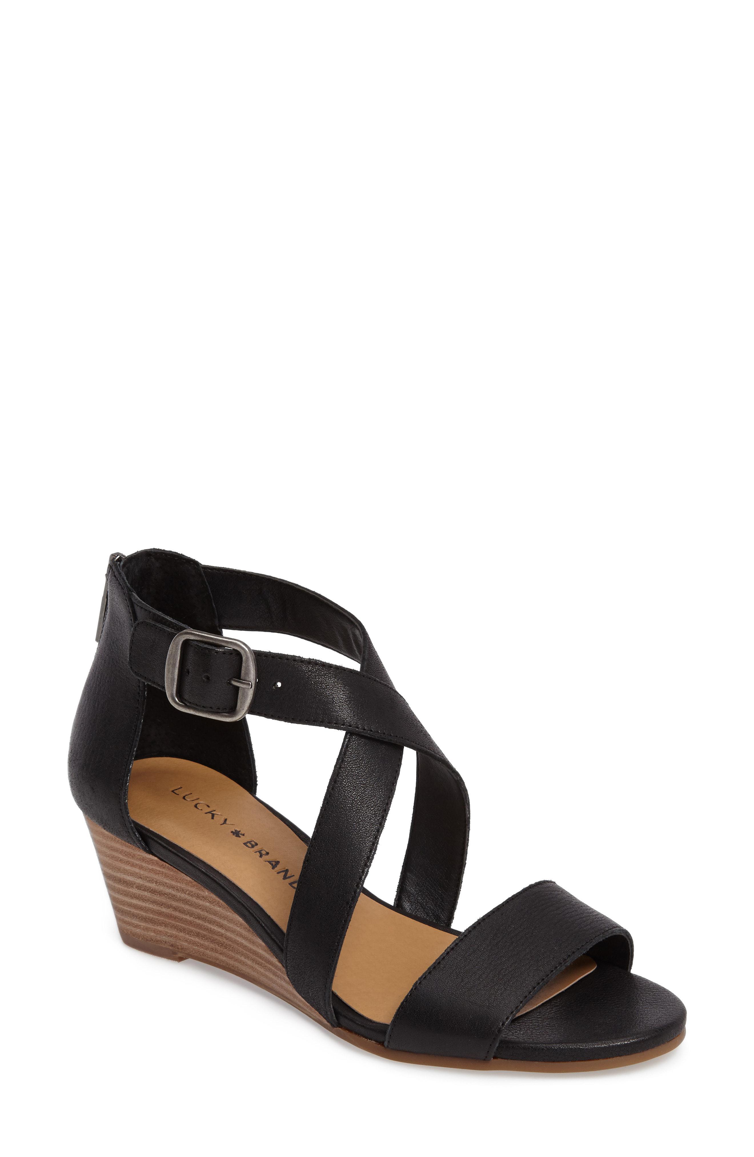 81b83d59b52c Lyst - Lucky Brand Jenley Wedge Sandal in Brown
