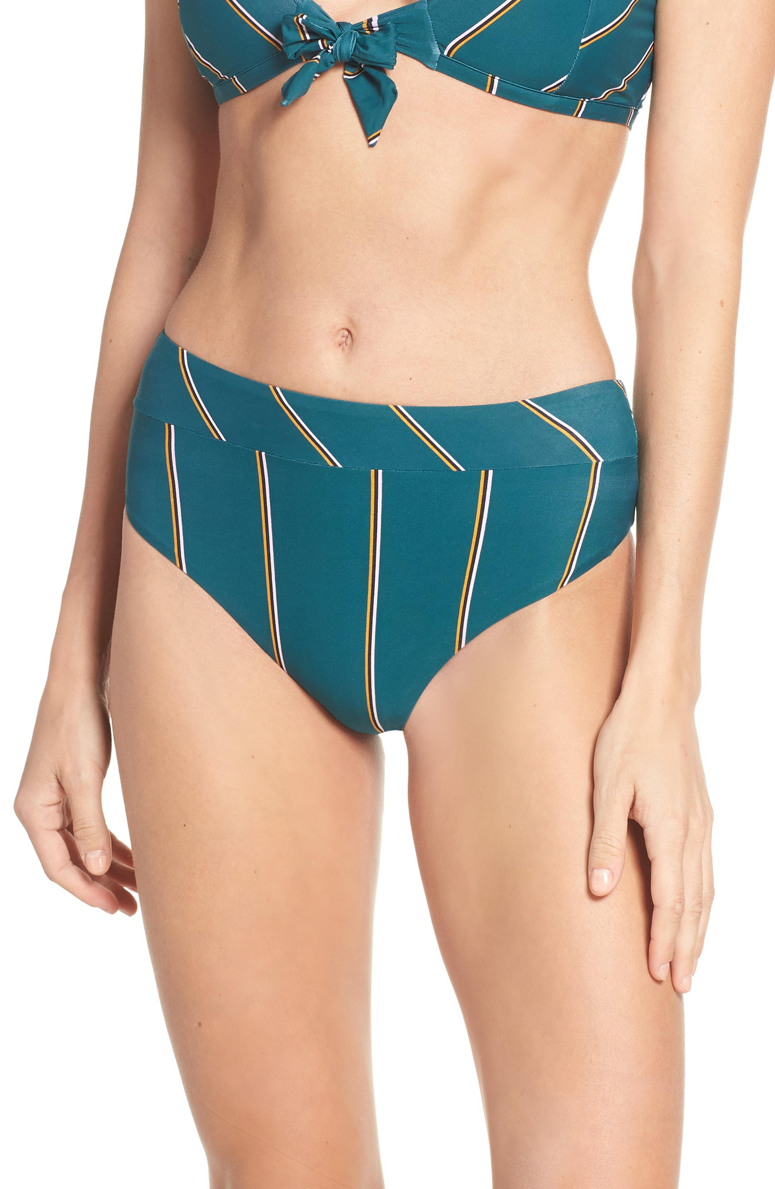 07332afe15a6b Lyst - Seafolly Aralia High Waist Bikini Bottoms in Blue