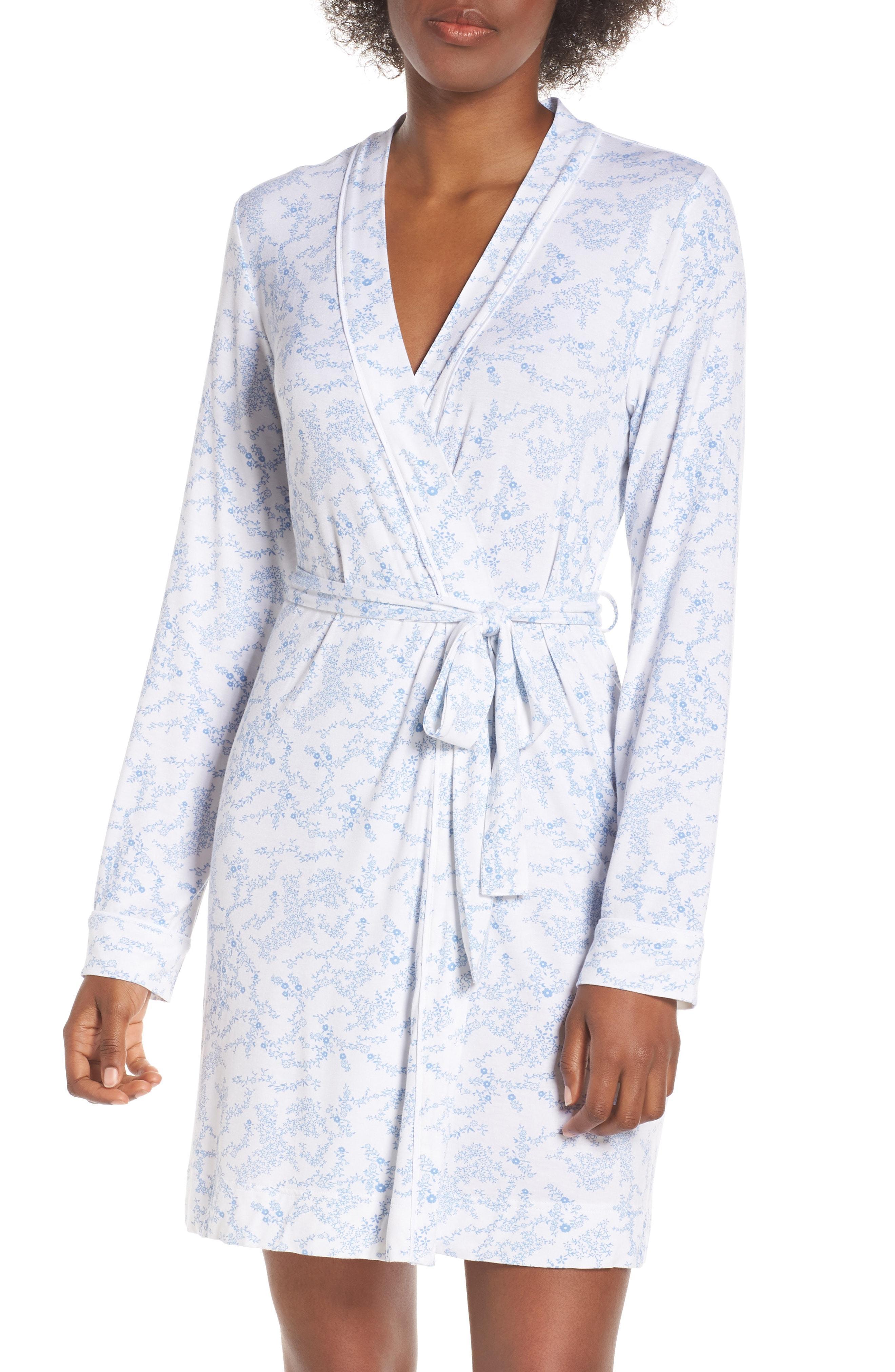 af3a181859 Lyst - UGG Ugg Aldridge Floral Short Robe in Blue
