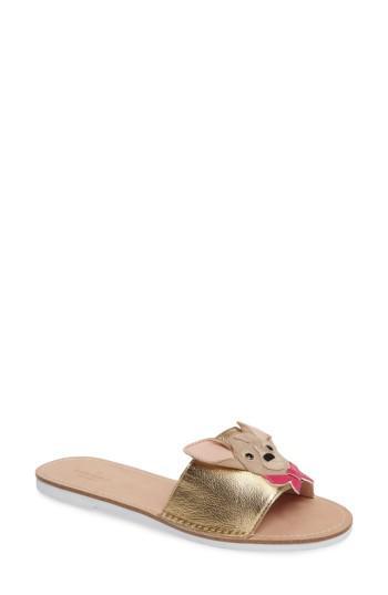 de13c62669c7 Lyst - Kate Spade Isadore Chihuahua Slide Sandal in Metallic
