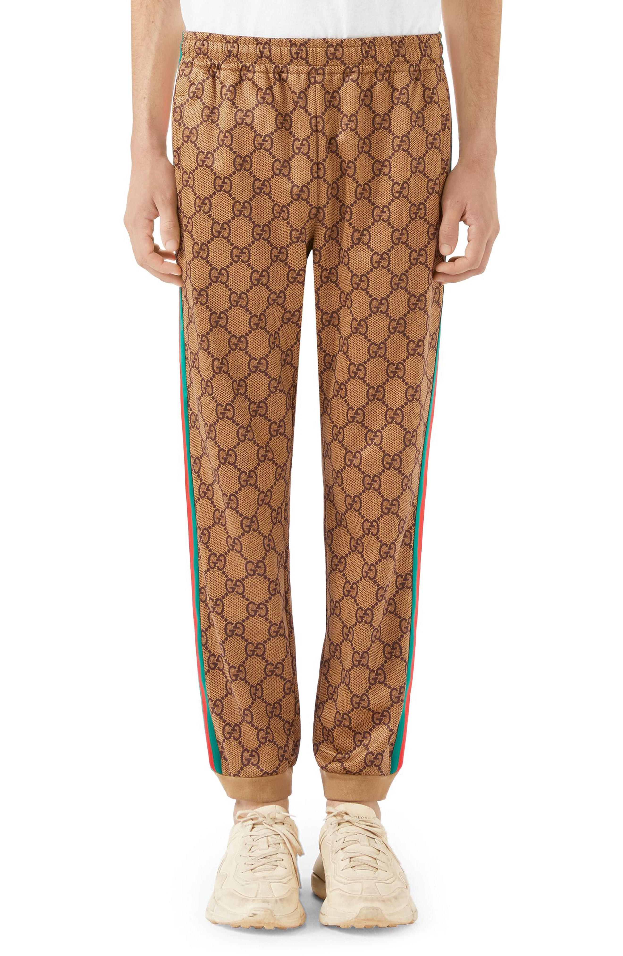 5017d914295 Lyst - Gucci Print Tech Jersey Jogger Pants in Natural for Men