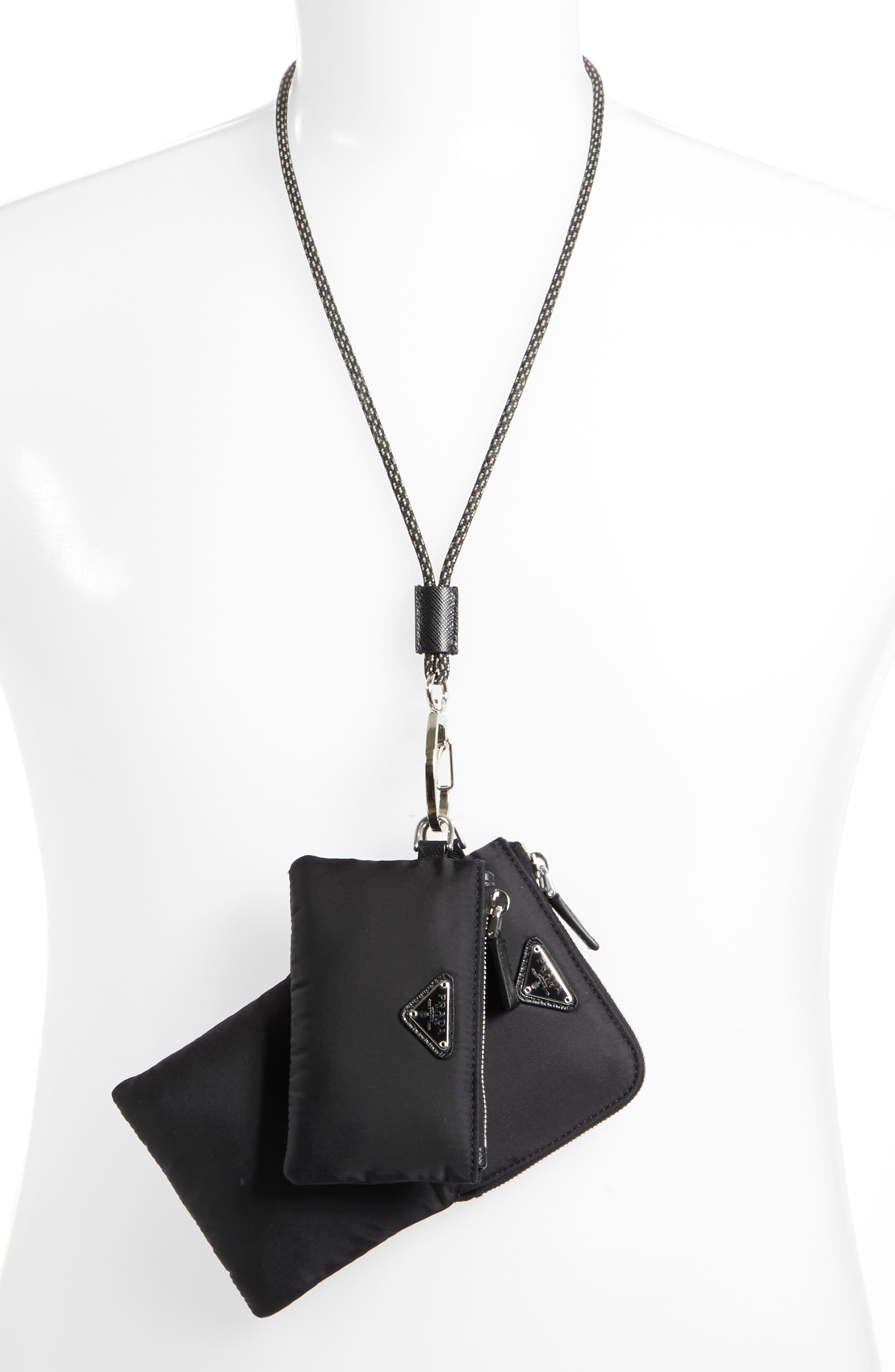 5e27affb857b2d Prada Over-neck Travel Wallet & Pouch in Black for Men - Lyst