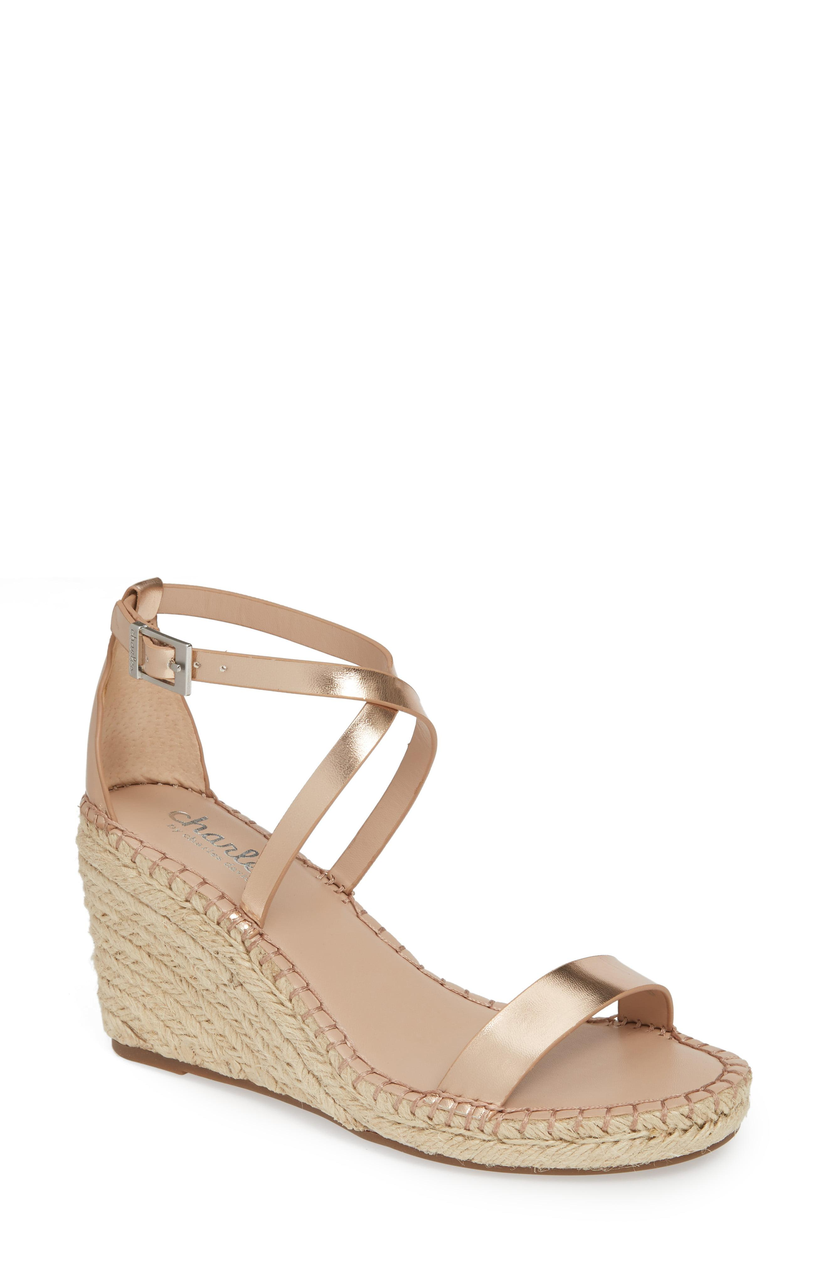 7e7703a34ce7 Lyst - Charles David Nola Espadrille Wedge Sandal in Metallic