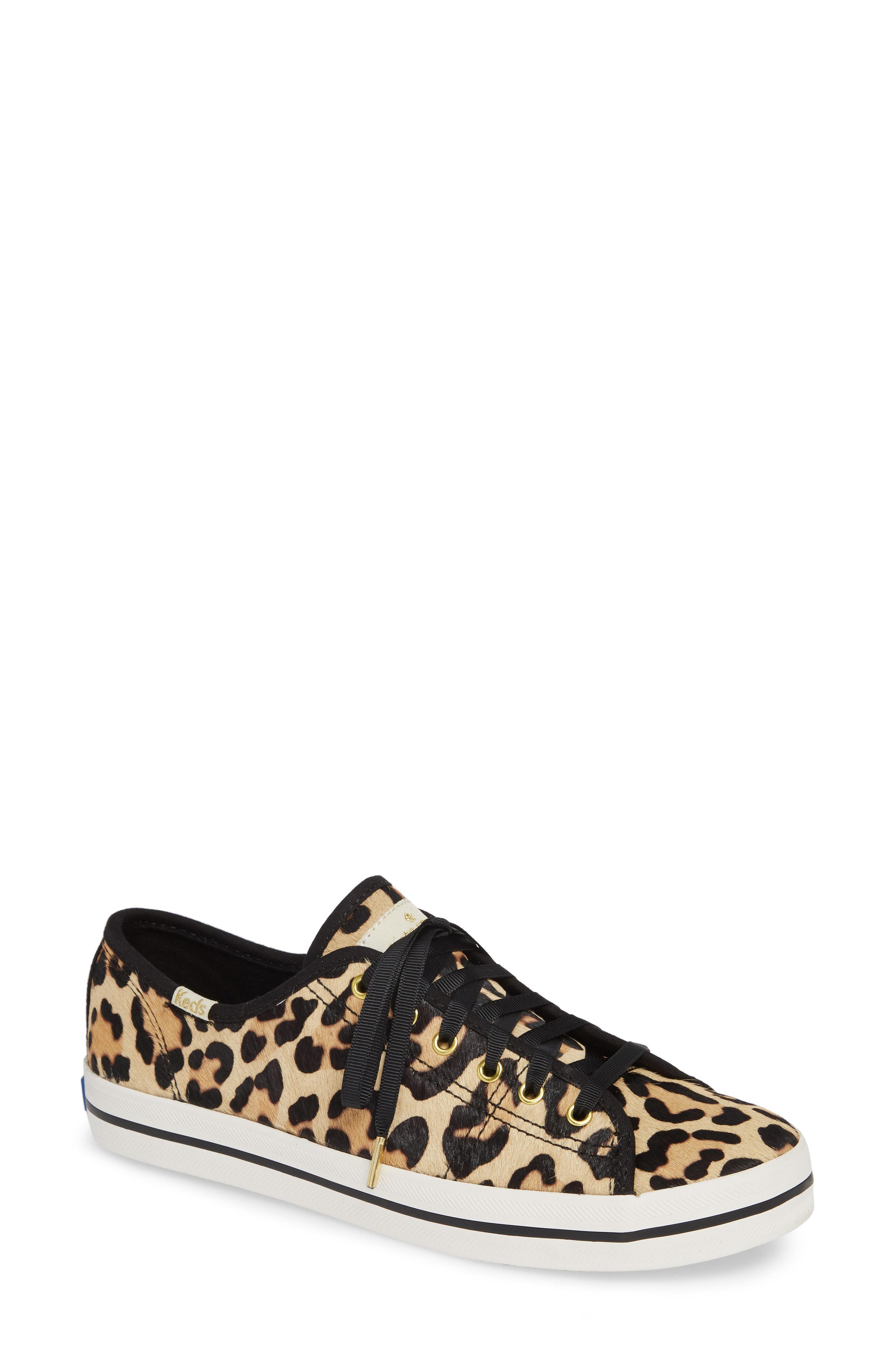 f8d357e6e20d Kate Spade Keds X New York Leopard-print Sneakers in Black - Save ...
