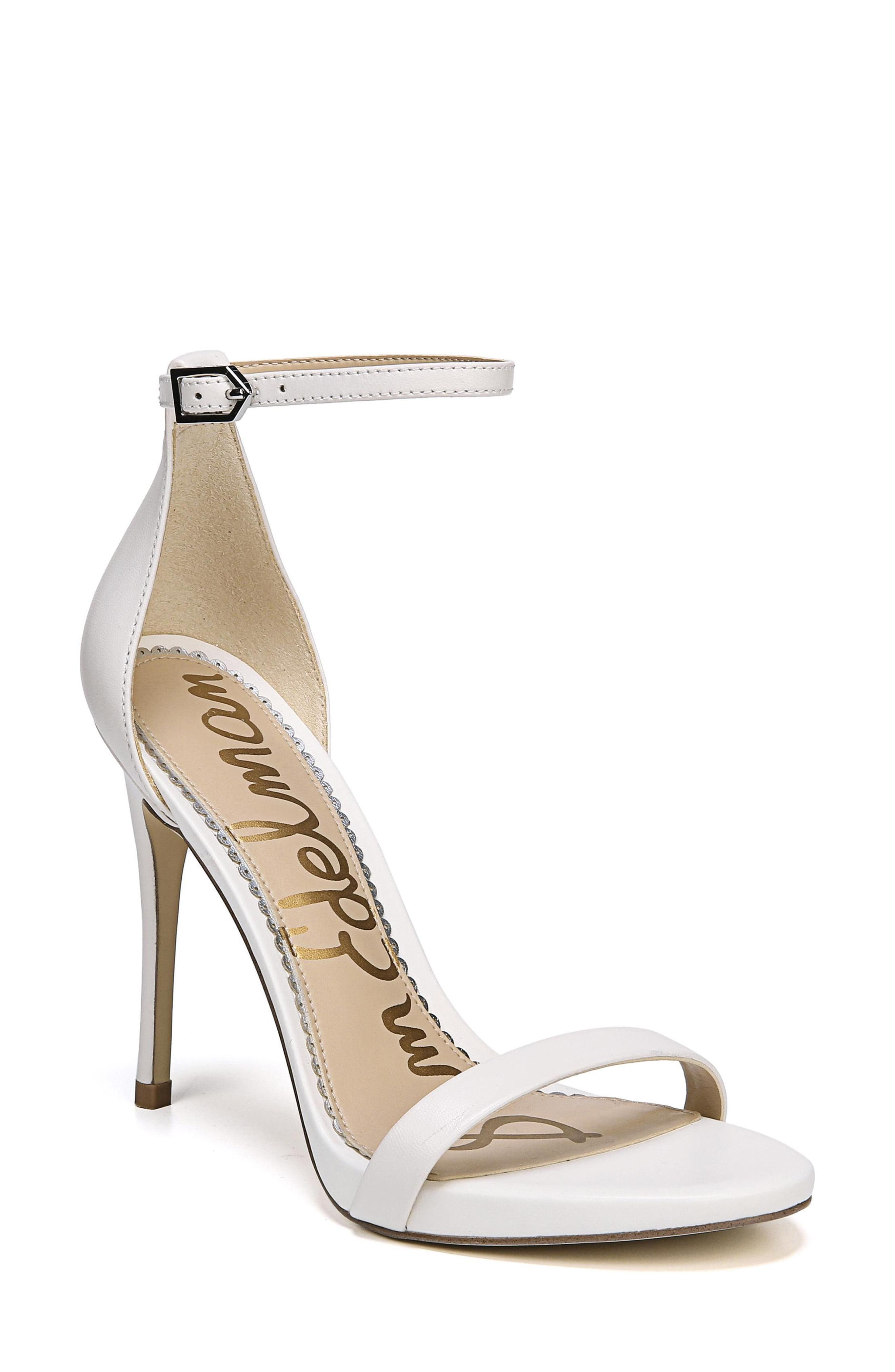 2b7cb53ae1a Lyst - Sam Edelman Women s Ariella Leather Sandals - Bright White in ...