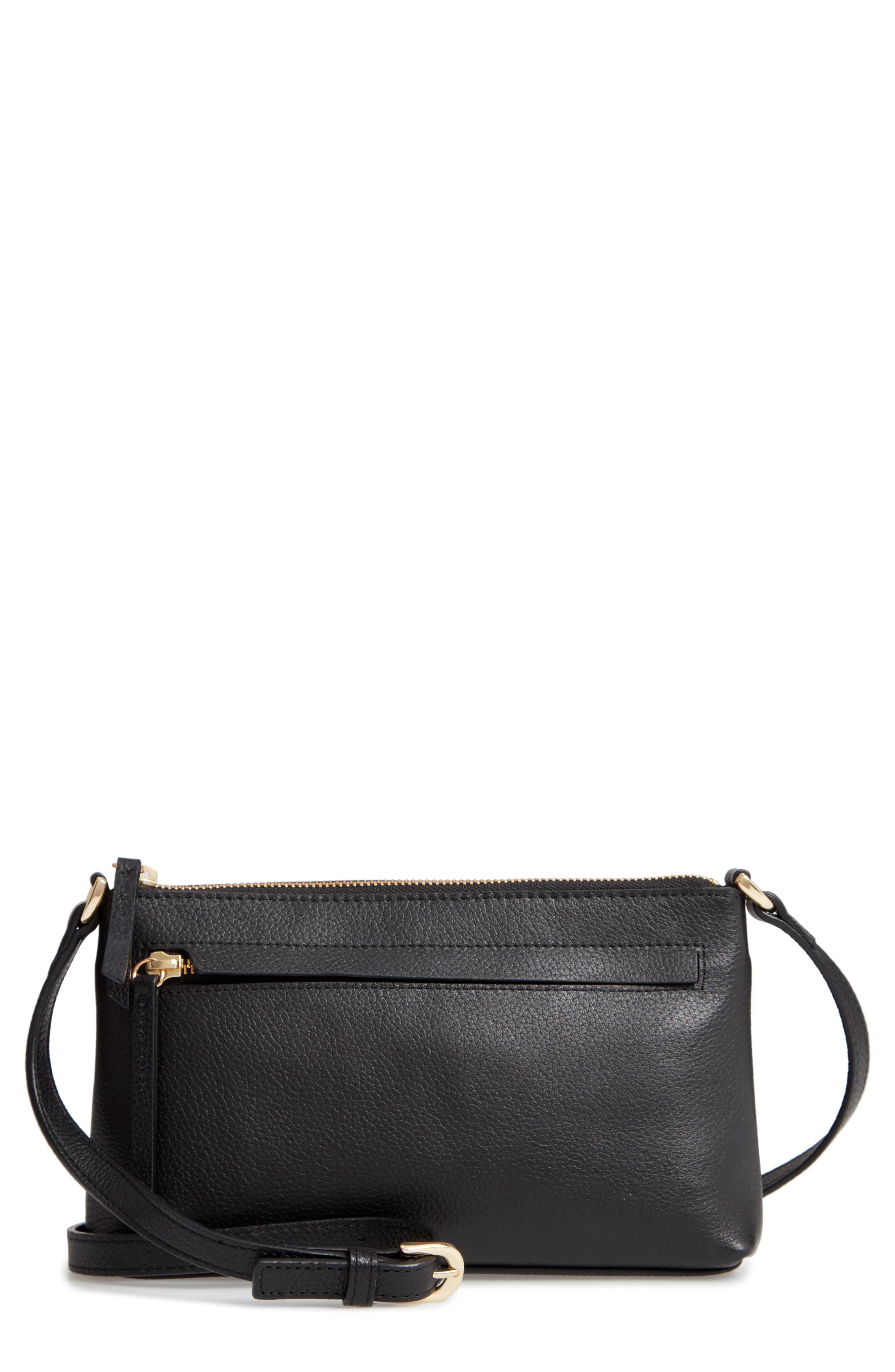 9b9825b51485 Nordstrom Mya Leather Crossbody Bag in Black - Save 40.0% - Lyst