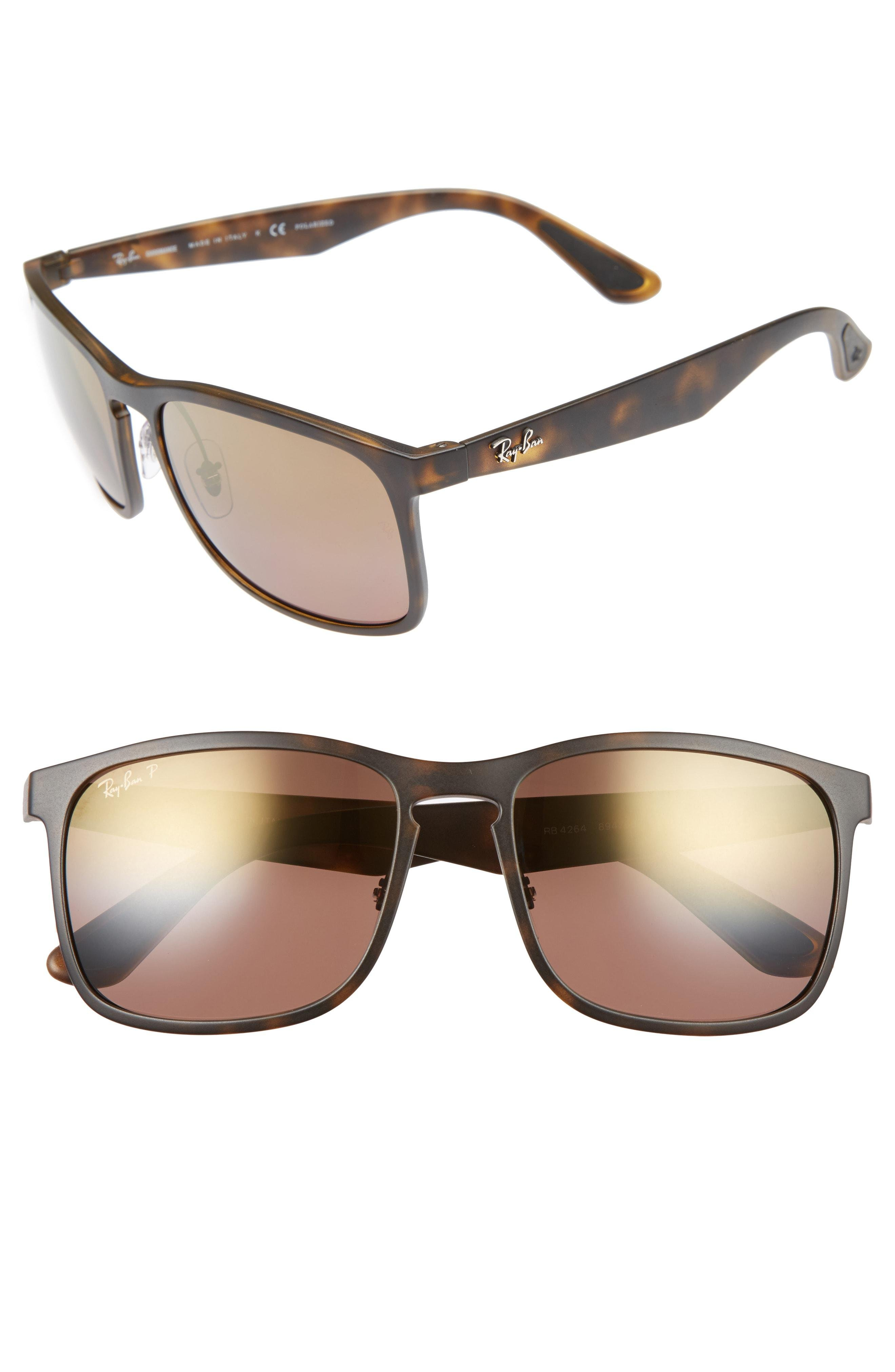2529a374763 Lyst - Ray-Ban 58mm Chromance Sunglasses in Brown for Men