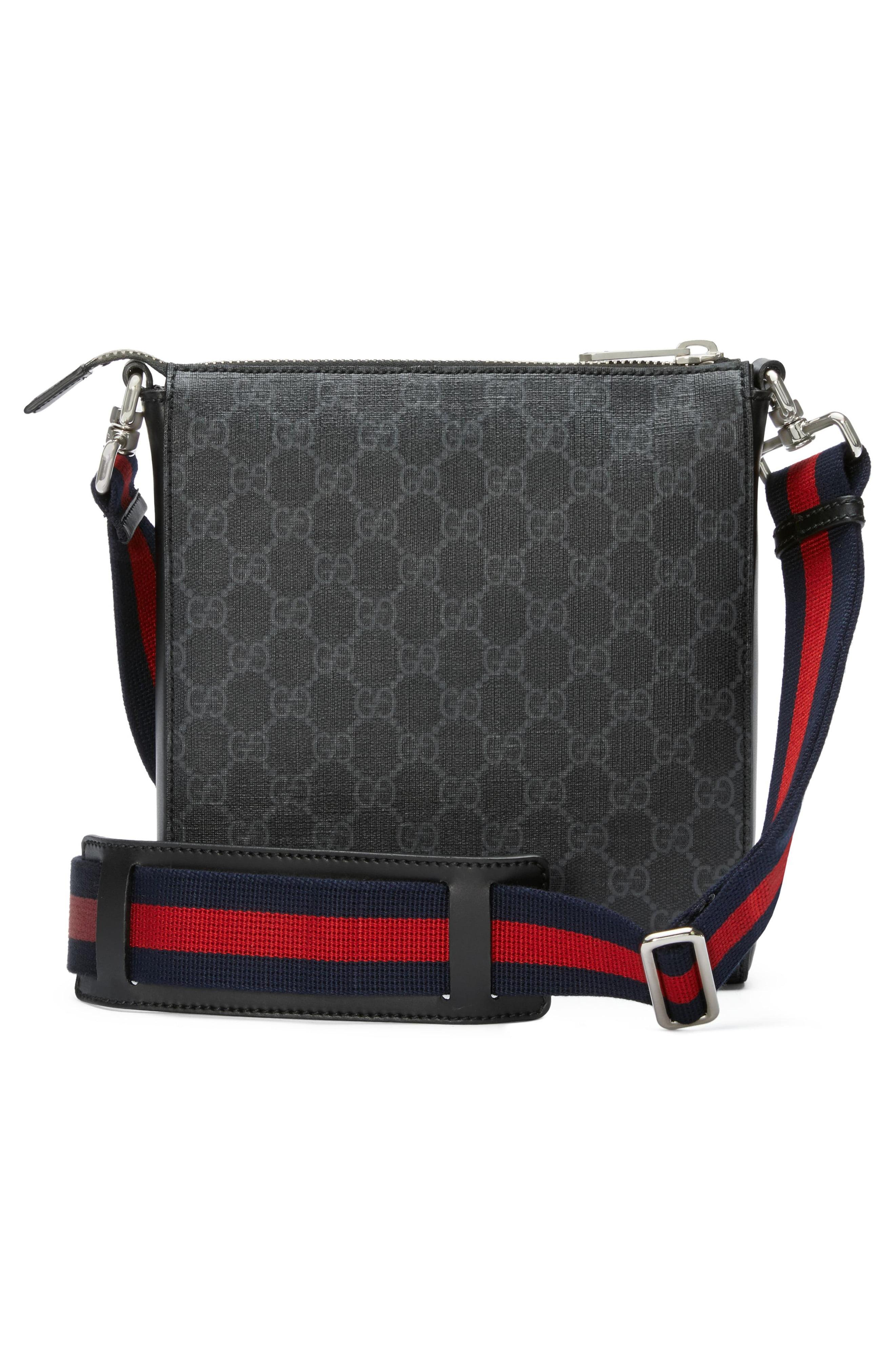 42555bc463f Lyst - Gucci Night Courrier GG Supreme Messenger in Black for Men ...