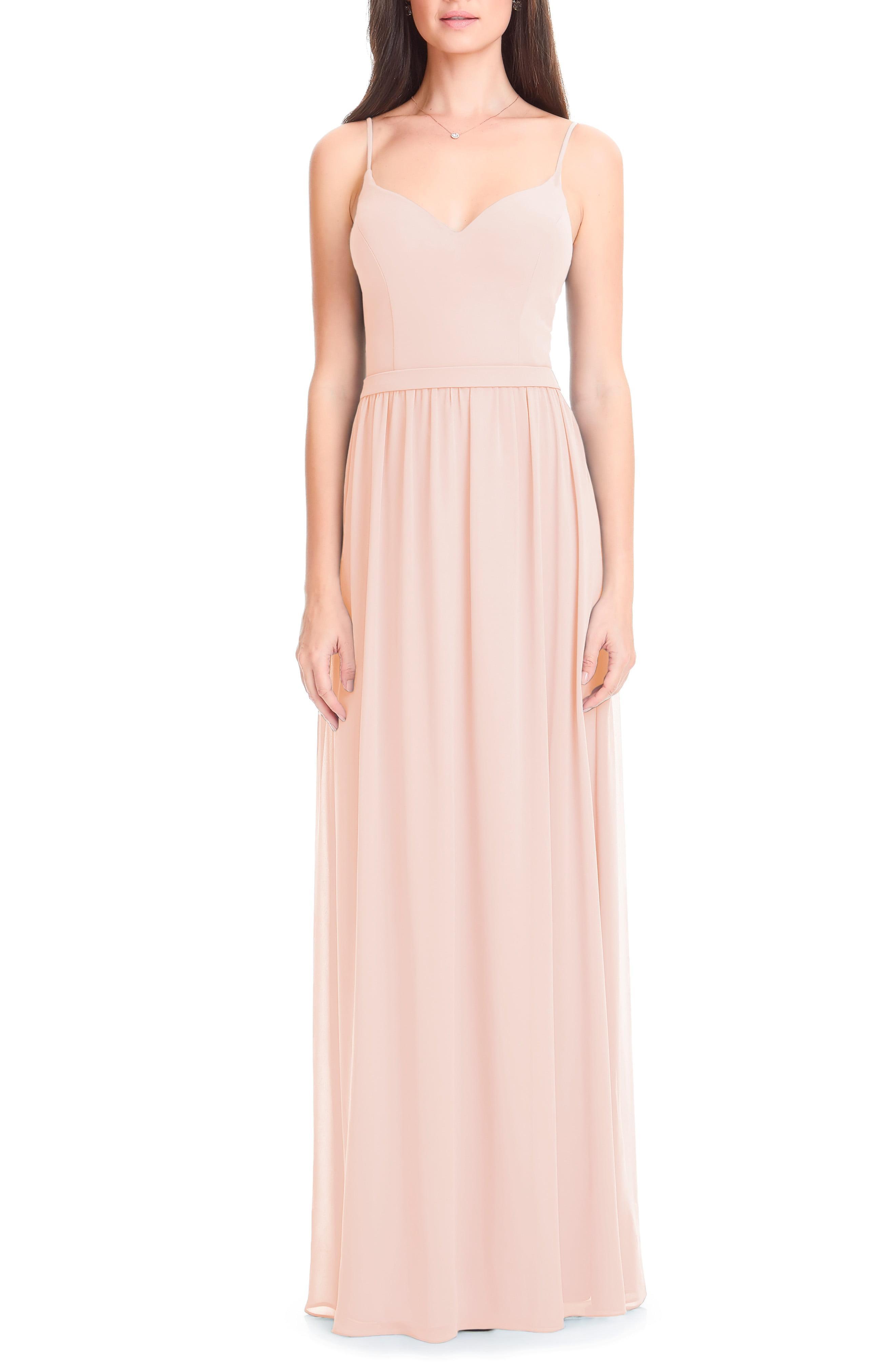 69eb0dd6b81 Lyst - Bill Levkoff Chiffon Gown in Pink
