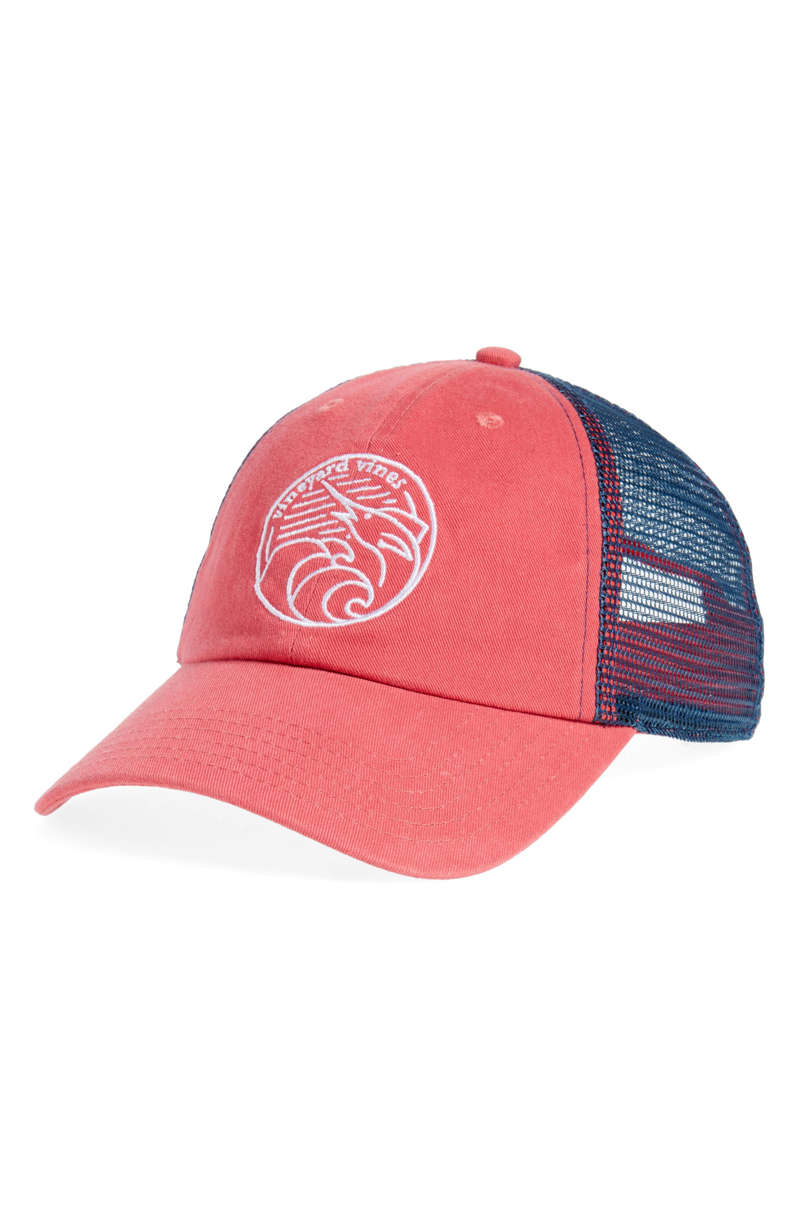 43044785191 Vineyard Vines - Red Low Pro Marlin Trucker Cap for Men - Lyst