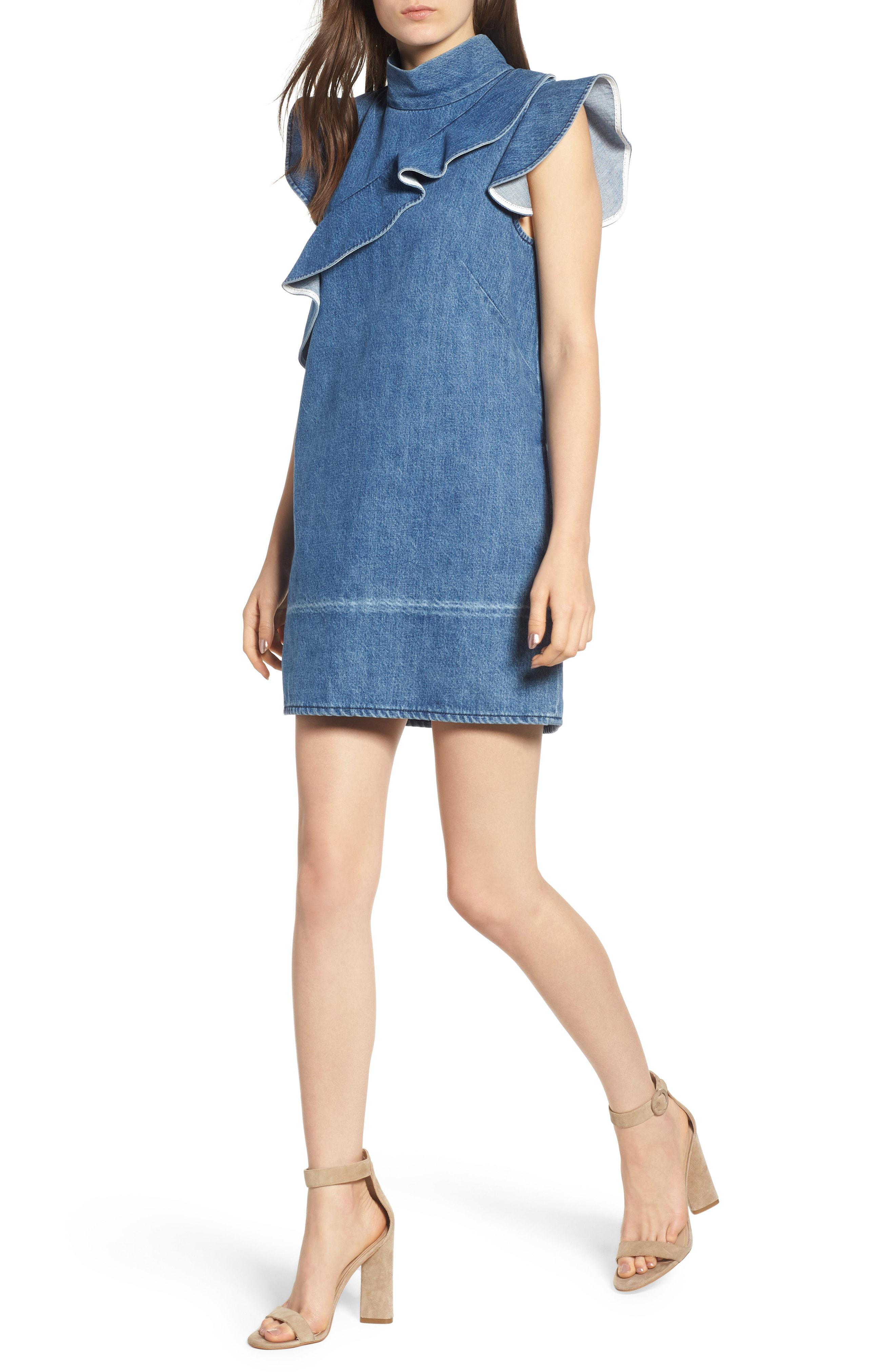 884fc736364 Lyst - Mcguire Sorbonne Denim Shift Dress in Blue