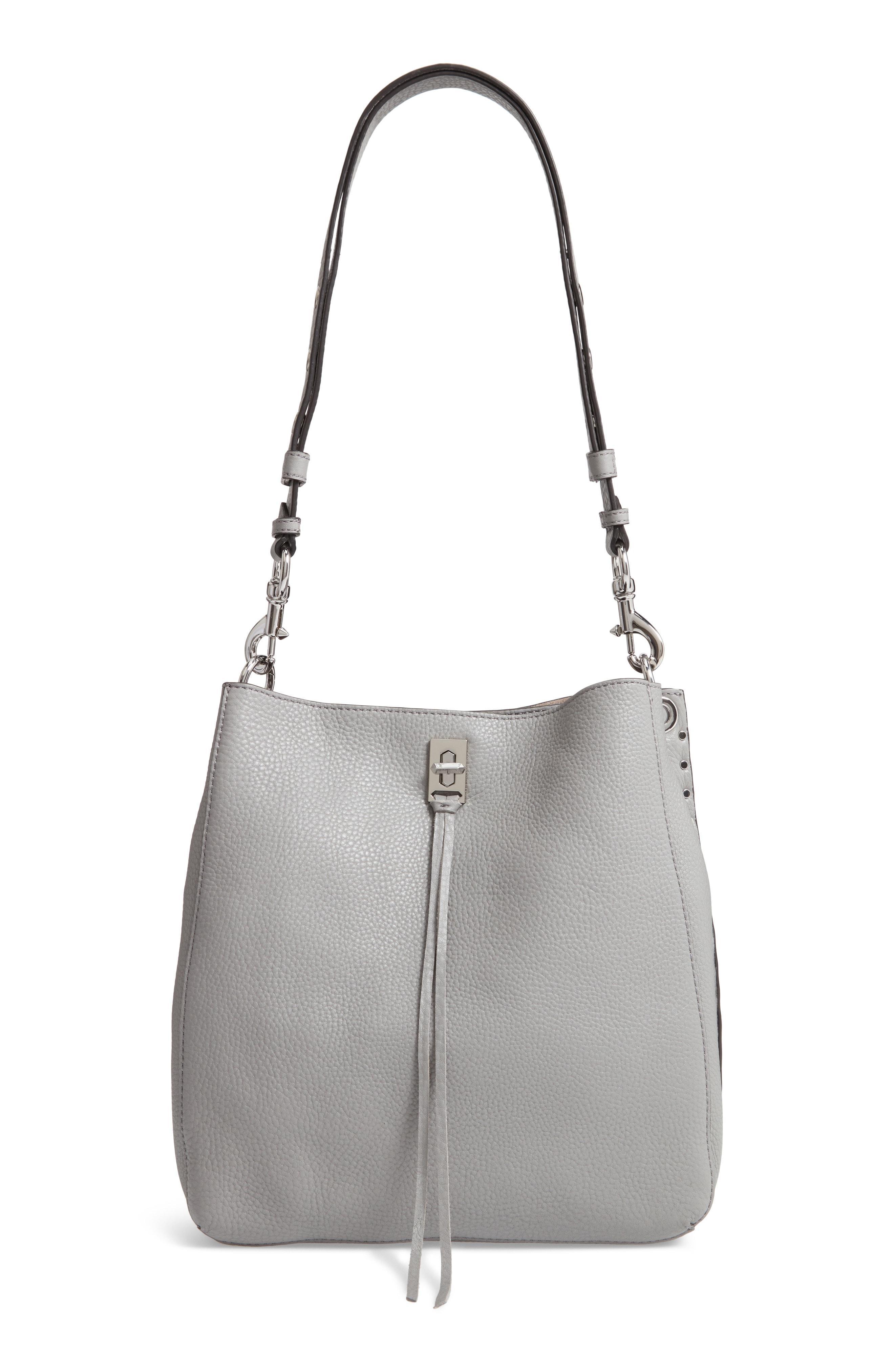 e5aeee69a8 Lyst - Rebecca Minkoff Darren Deerskin Leather Shoulder Bag in Black ...