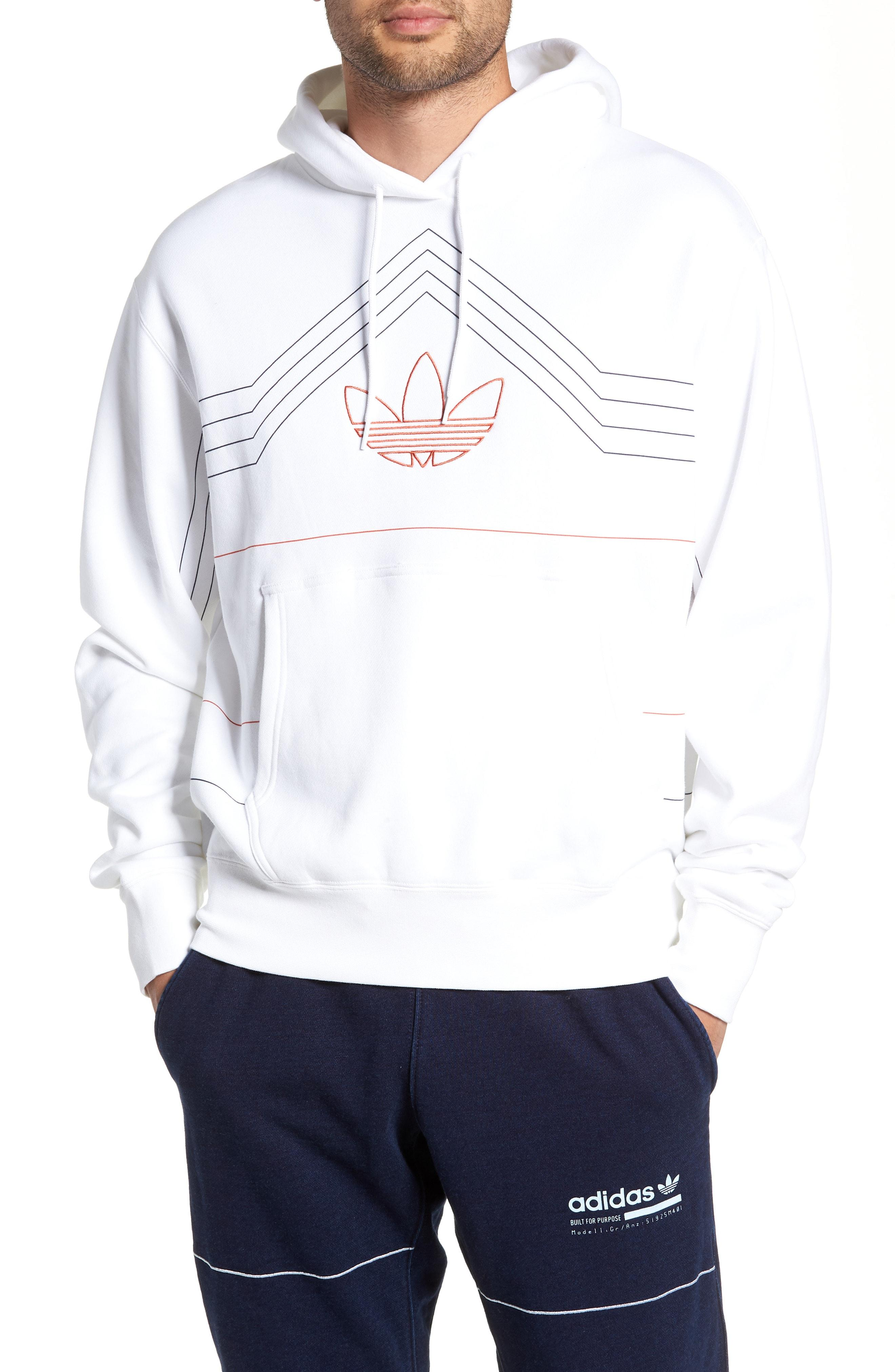 74a4df9a2 Lyst - adidas Originals Ewing Hooded Sweatshirt in White for Men