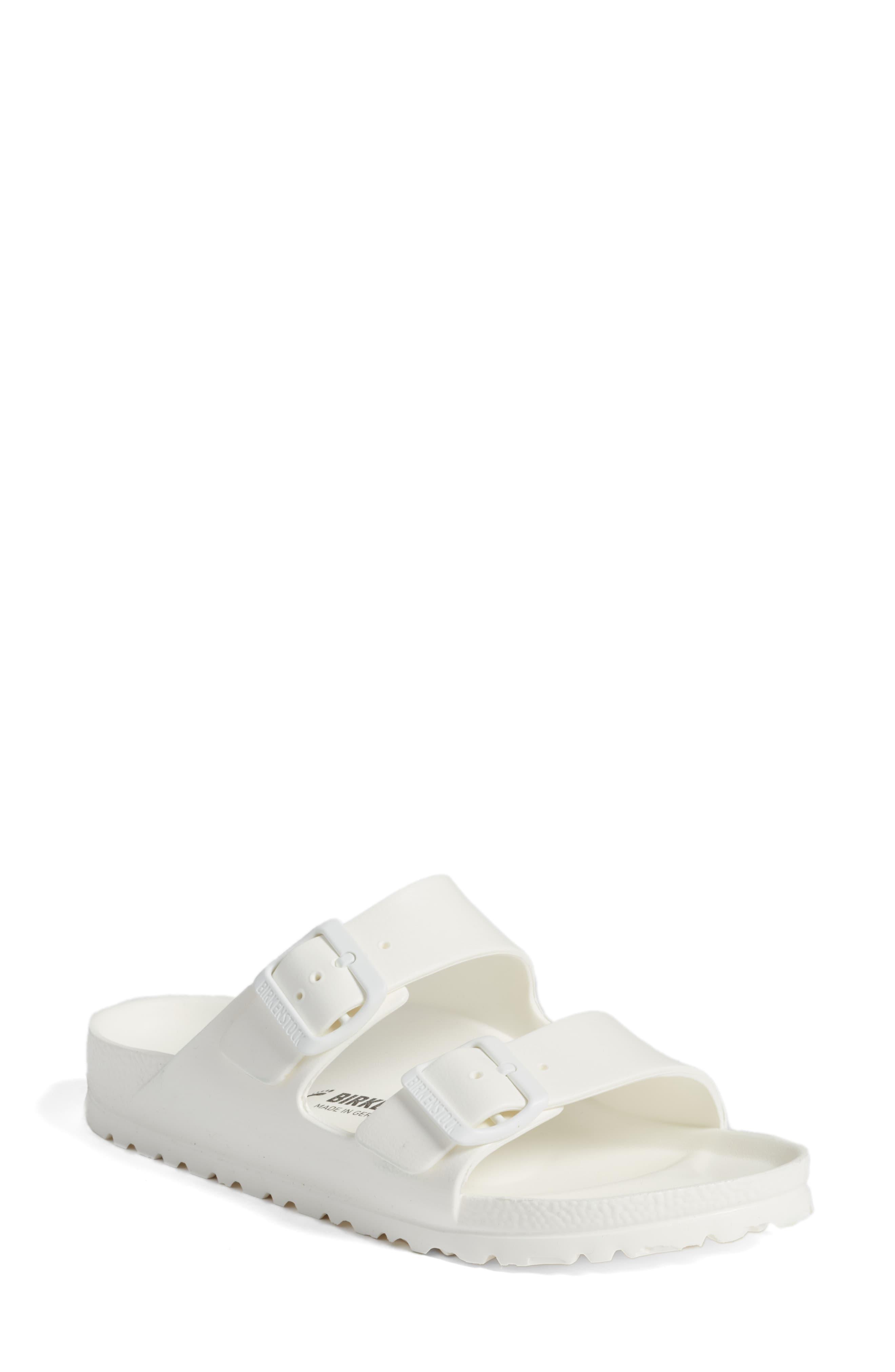 f588cacc768 Birkenstock Essentials Arizona Sandals in White - Lyst