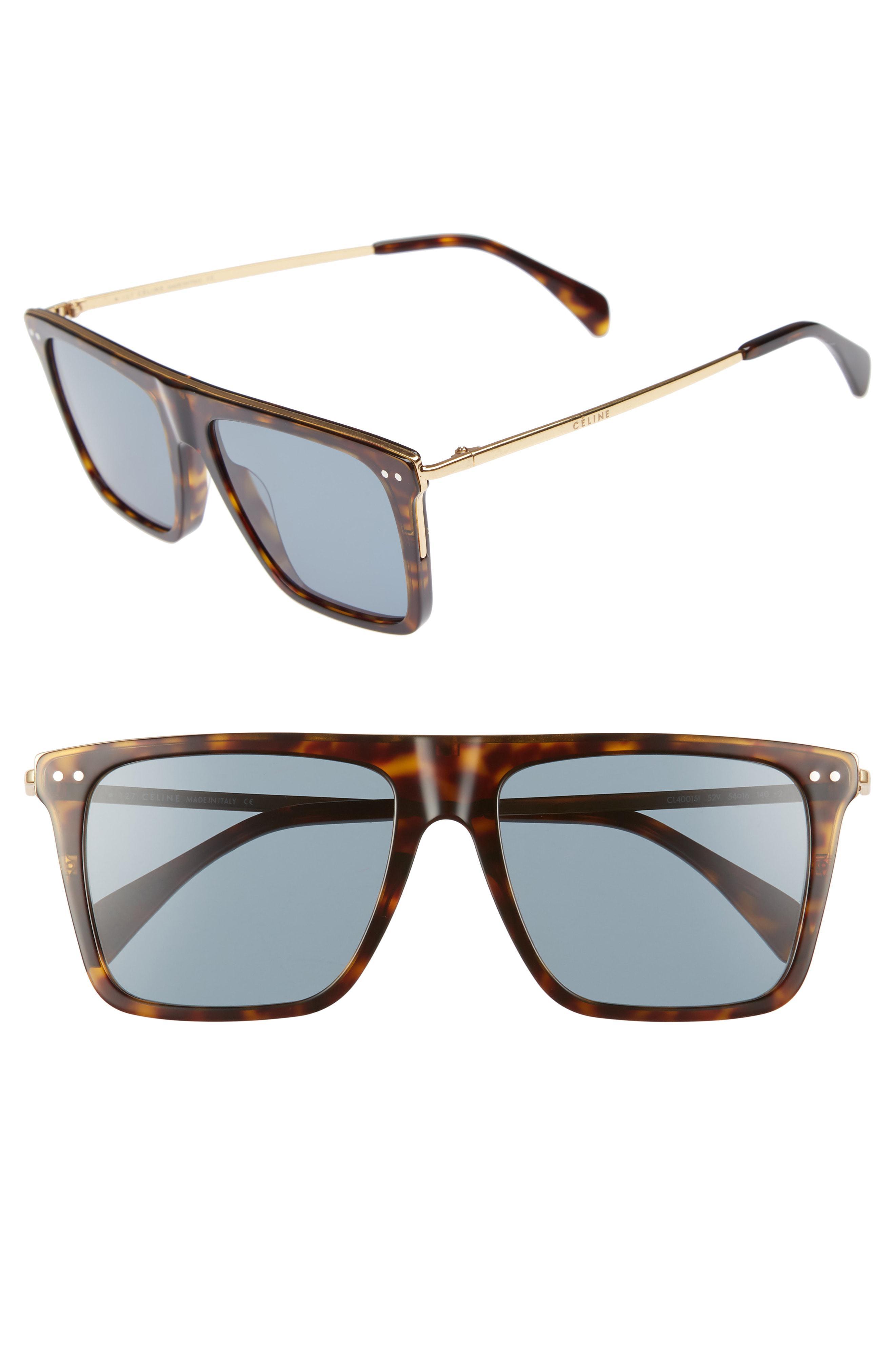 f00c5756899bc Lyst - Céline 54mm Flat Top Sunglasses - in Gray