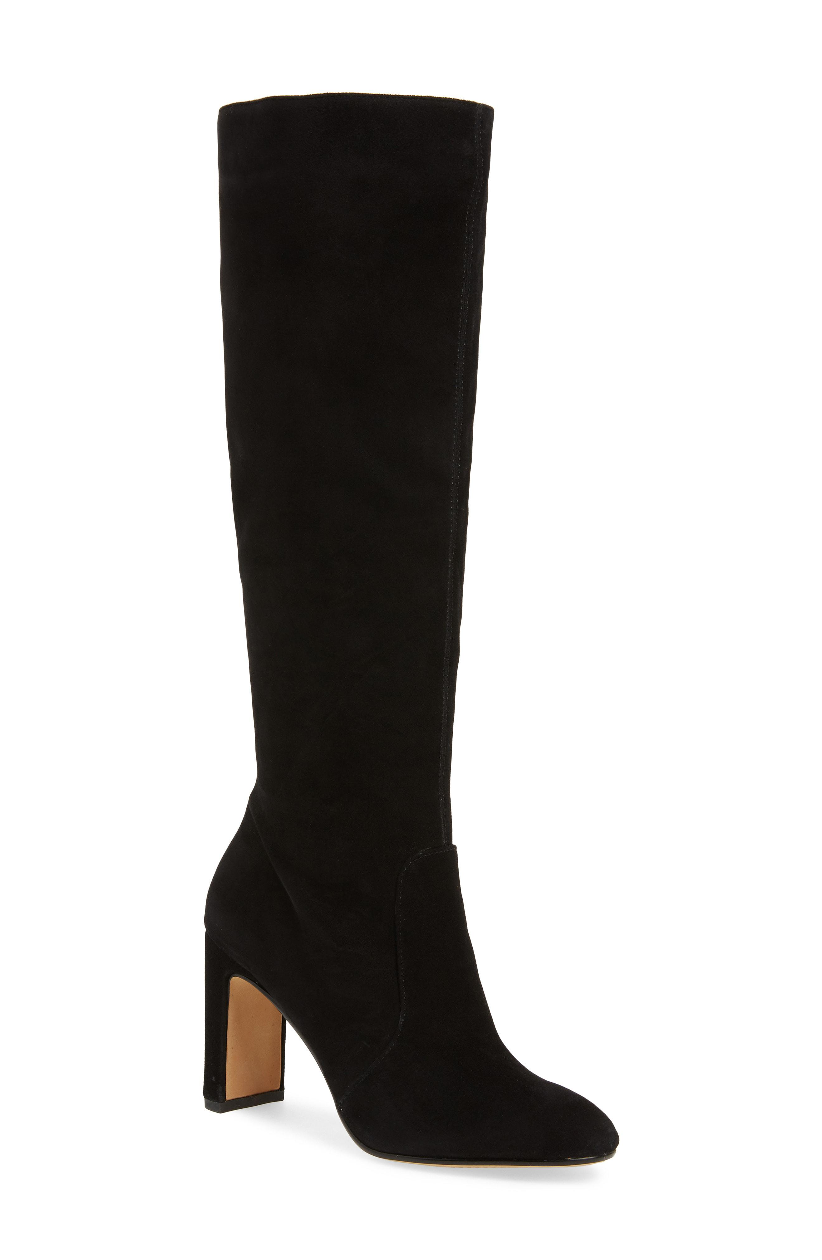 59f88df8ffa Lyst - Dolce Vita Coop Suede Slouch Boots in Black - Save 0.5%