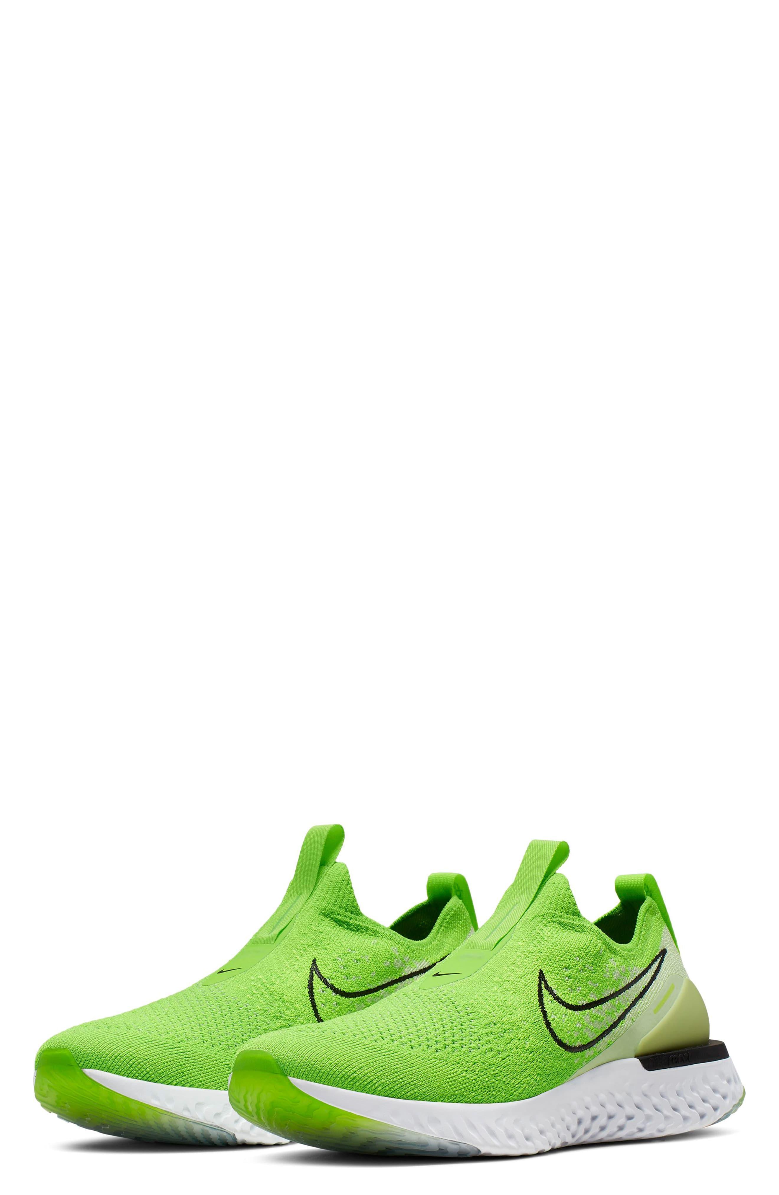 Women's Green Epic React Flyknit Running Shoe