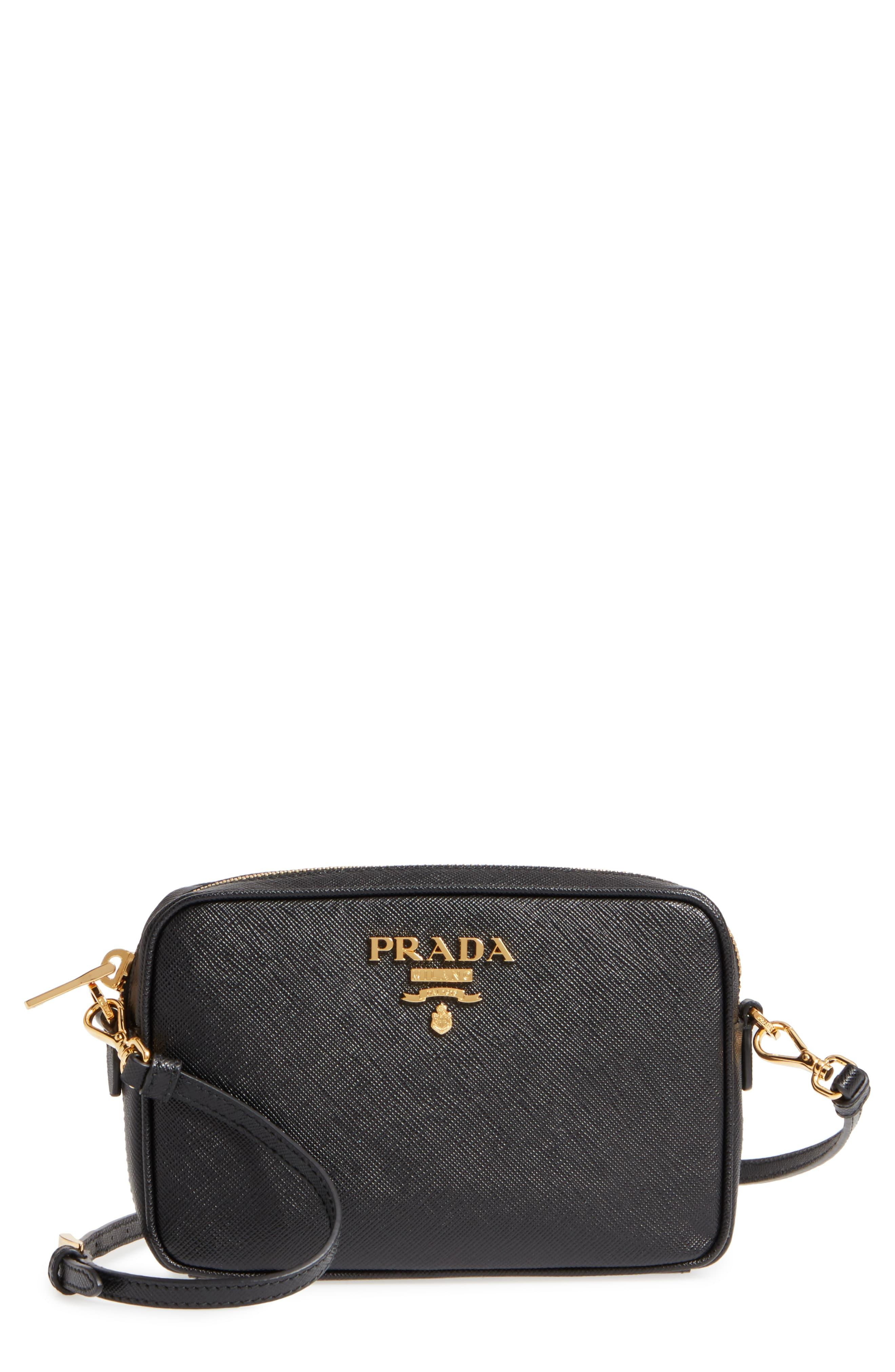d1d3242c75de Prada - Blue Saffiano Leather Camera Bag - Lyst. View fullscreen