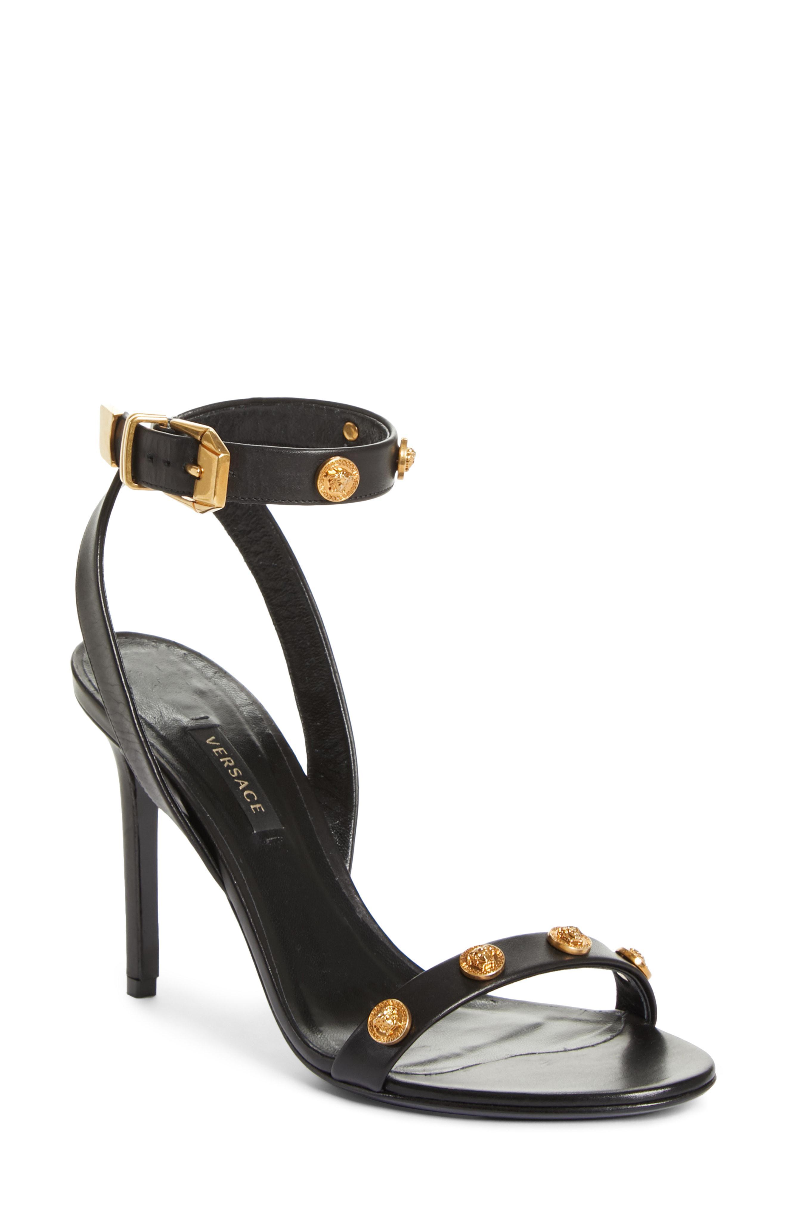 a9c0eb3cc46 Lyst - Versace Tribute Medusa Ankle Strap Sandal in Black