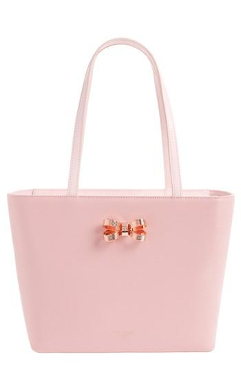 f537a7d0d321 Lyst - Ted Baker Small Lamica Patent Leather Shopper in Pink
