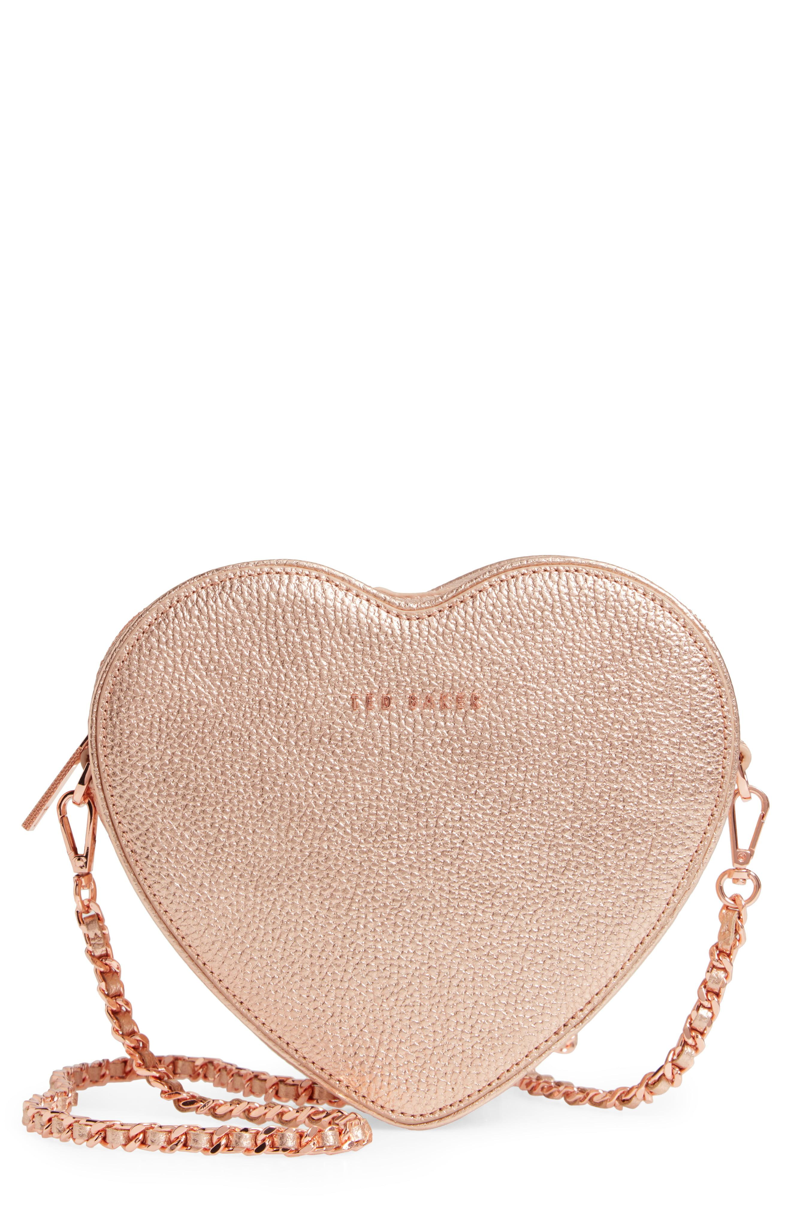 f32907e80 Lyst - Ted Baker Amellie Leather Crossbody Bag - Metallic in Pink ...