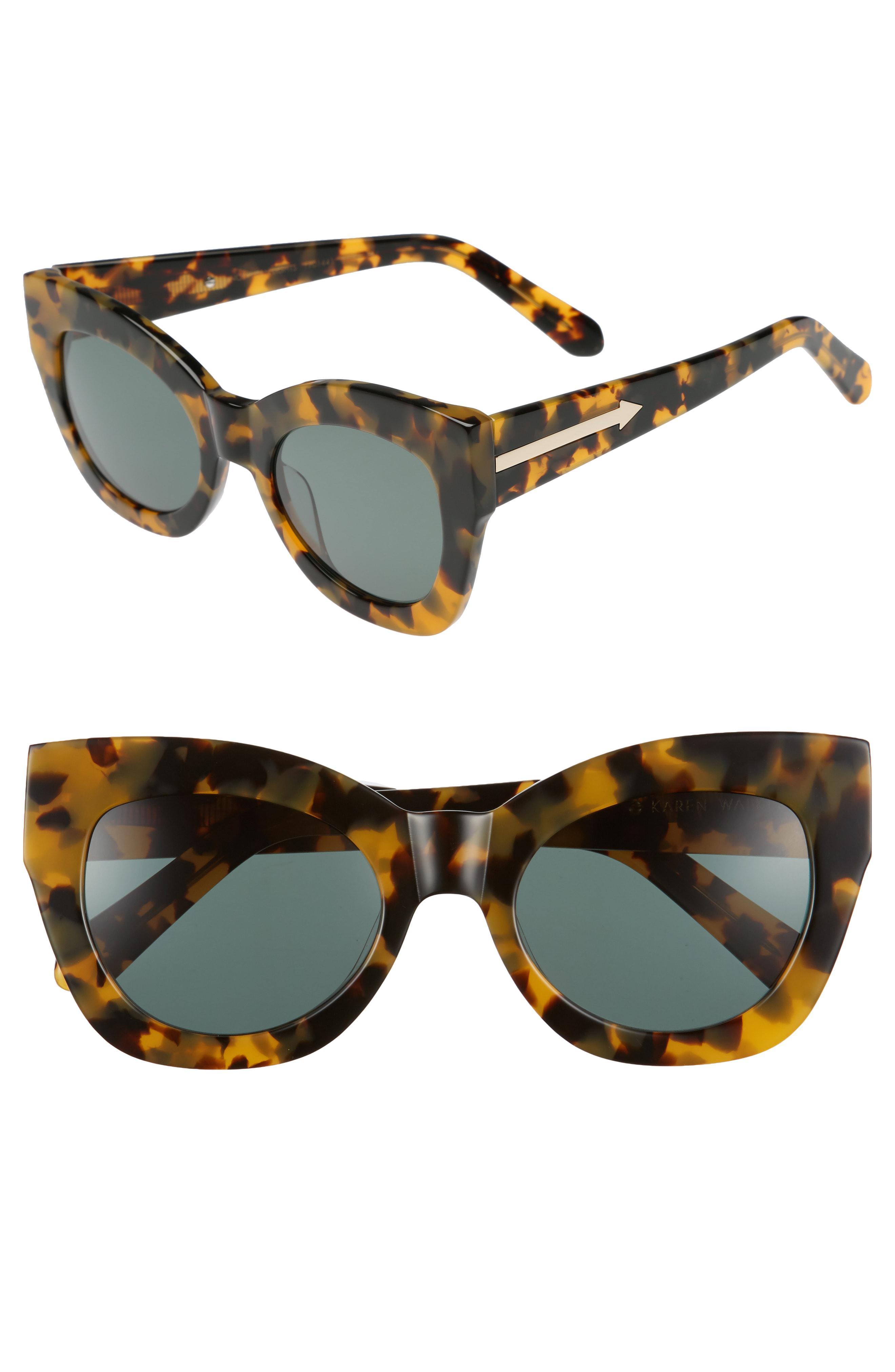 ff7b1da55c4 Lyst - Karen Walker Northern Lights V2 51mm Cat Eye Sunglasses ...