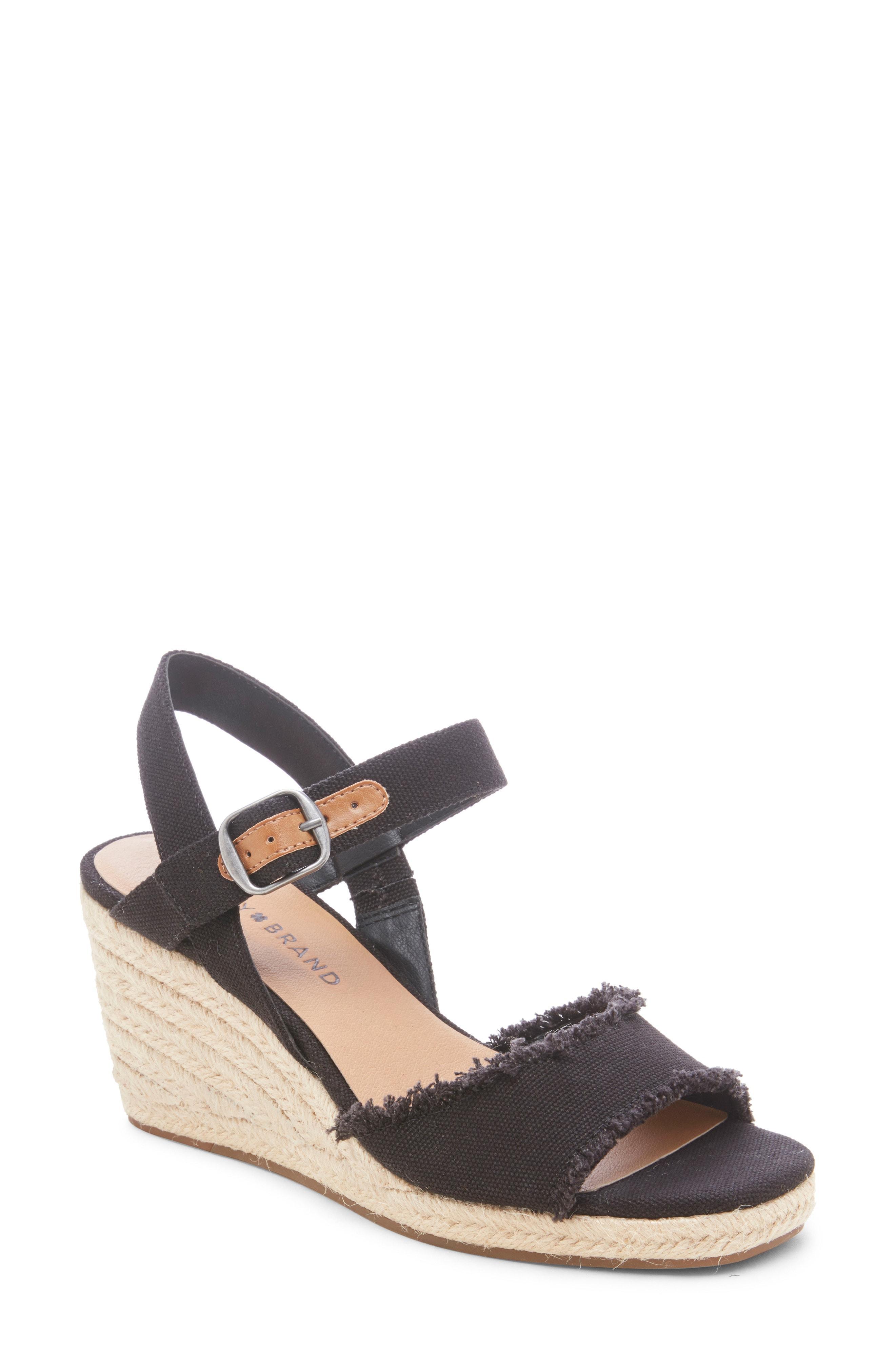 de88048a760 Lyst - Lucky Brand Mindra Espadrille Wedge Sandal