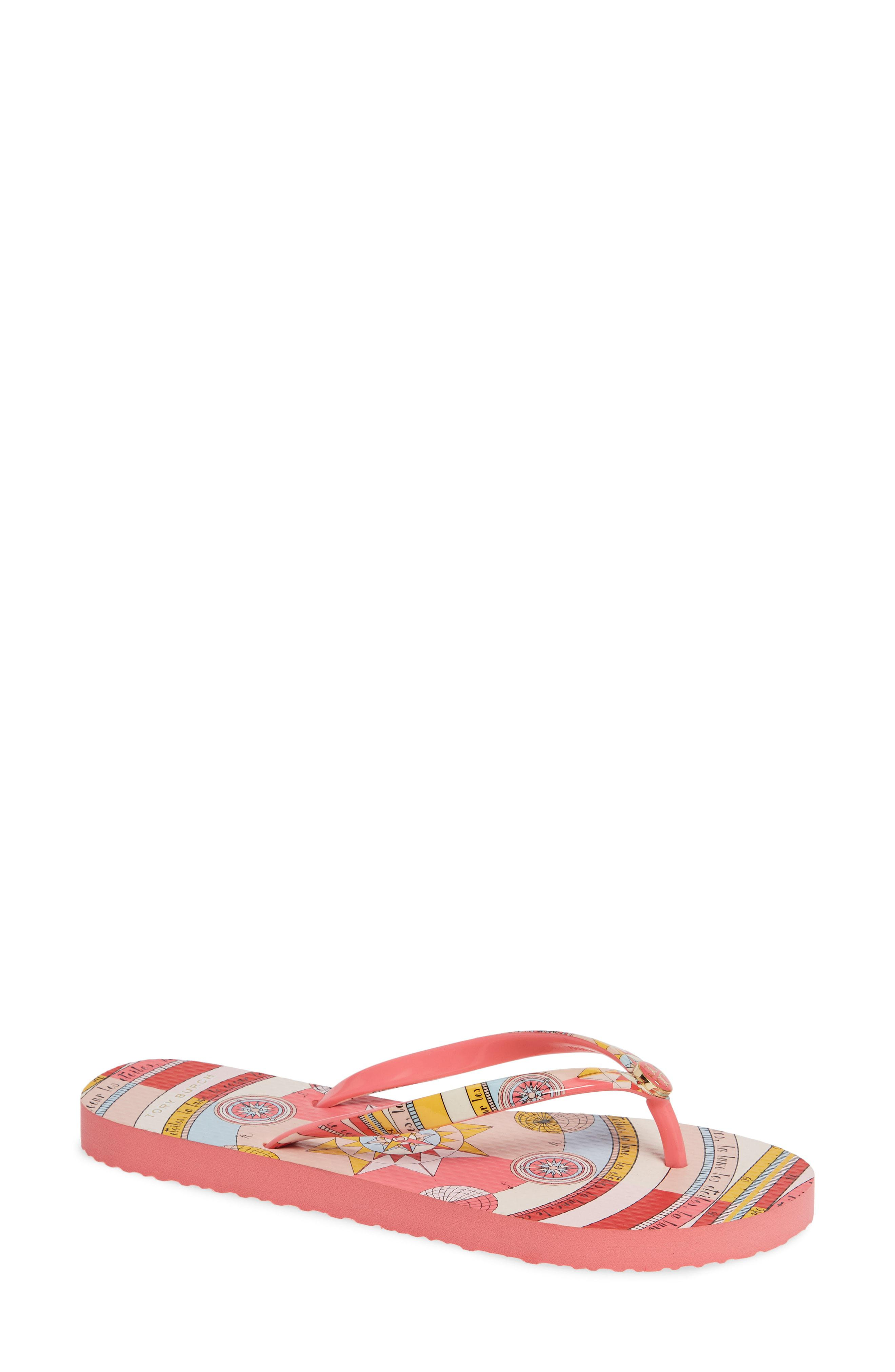 d8991598e Lyst - Tory Burch Thin Flip Flop in Pink
