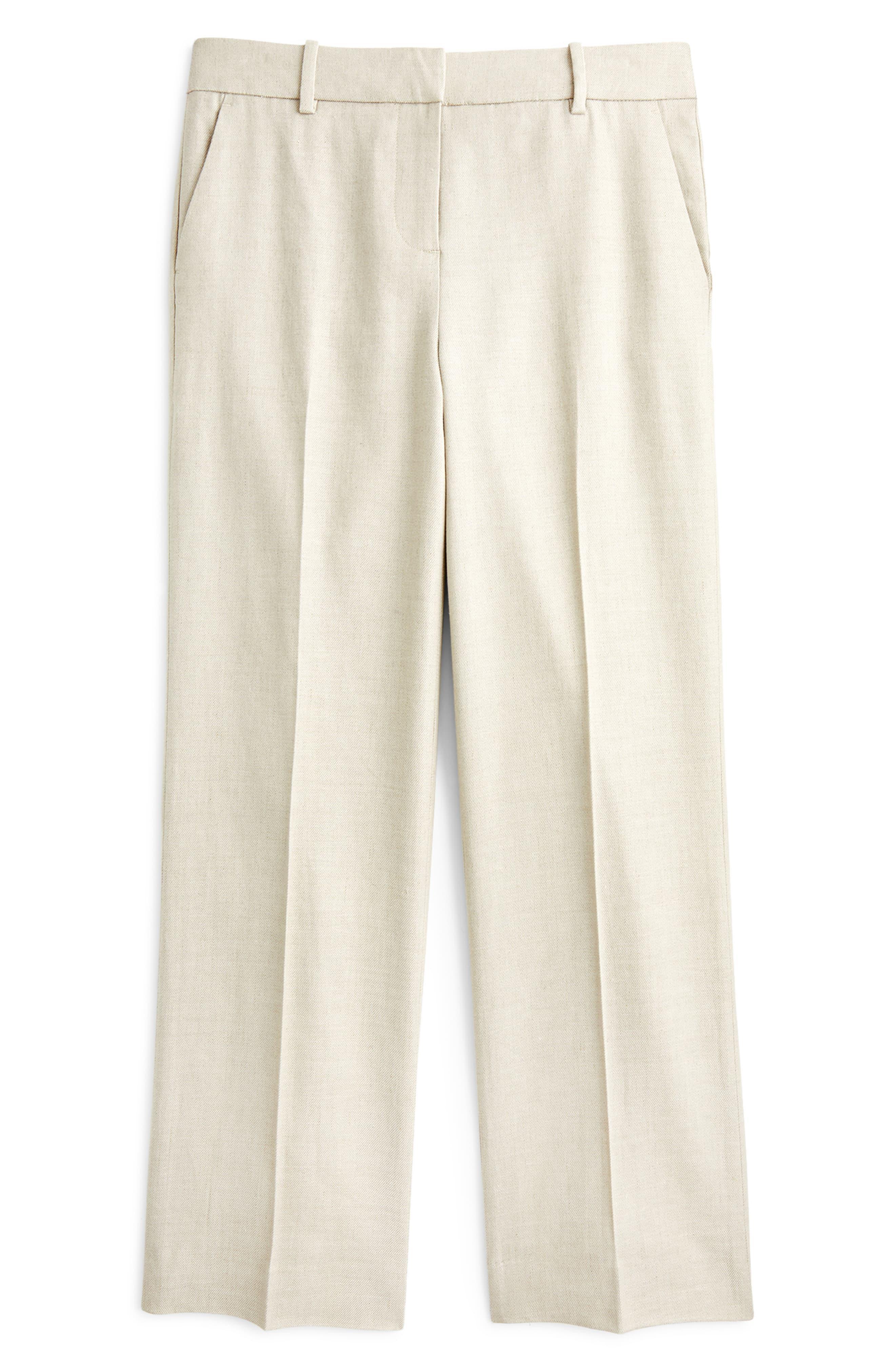 54585cb47a J.Crew Peyton Linen Blend Wide Leg Pants in Pink - Save 40% - Lyst