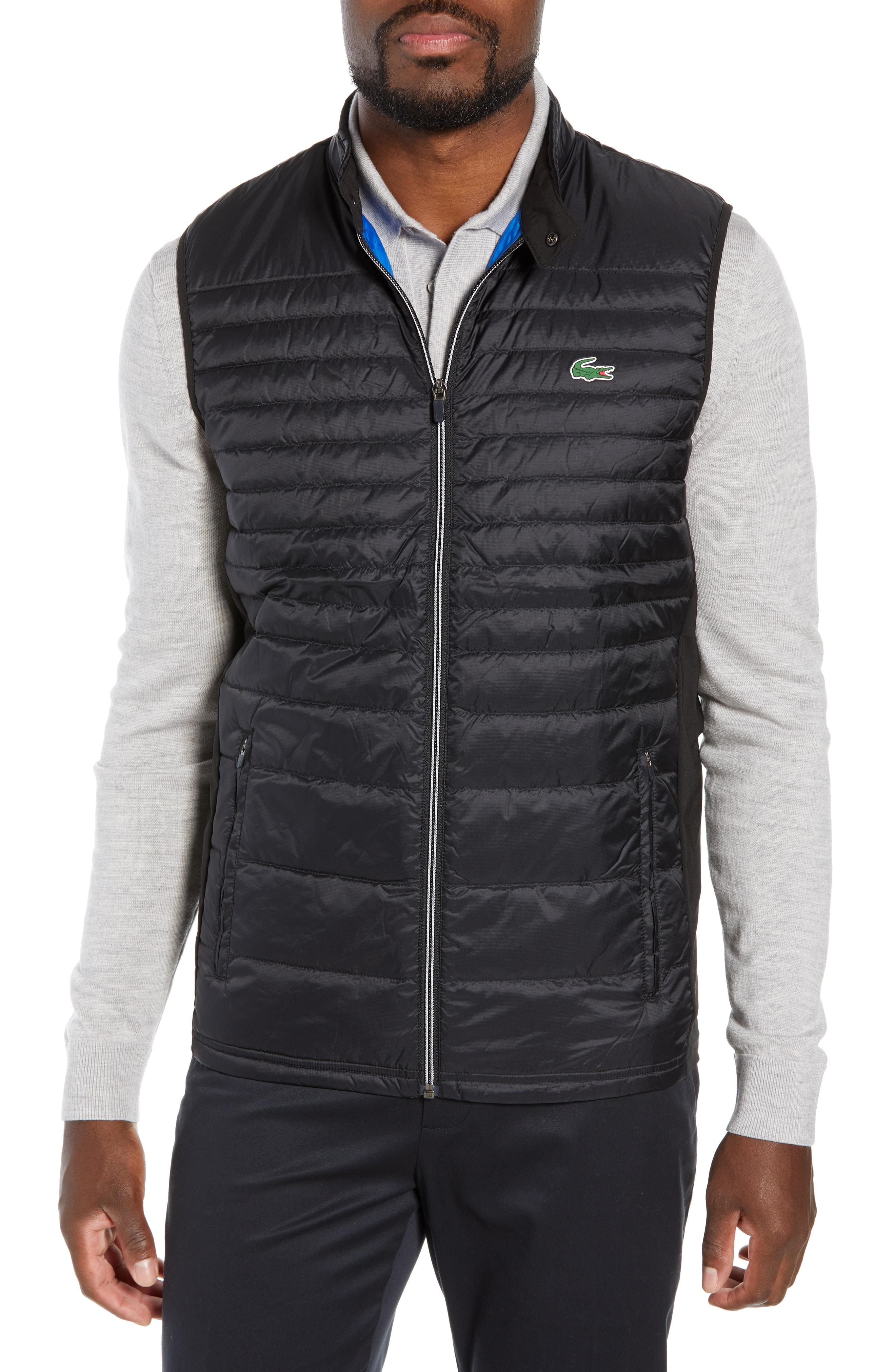 cd8f7b989f64 Lyst - Lacoste Sport Water Resistant Quilted Down Golf Vest in Blue ...