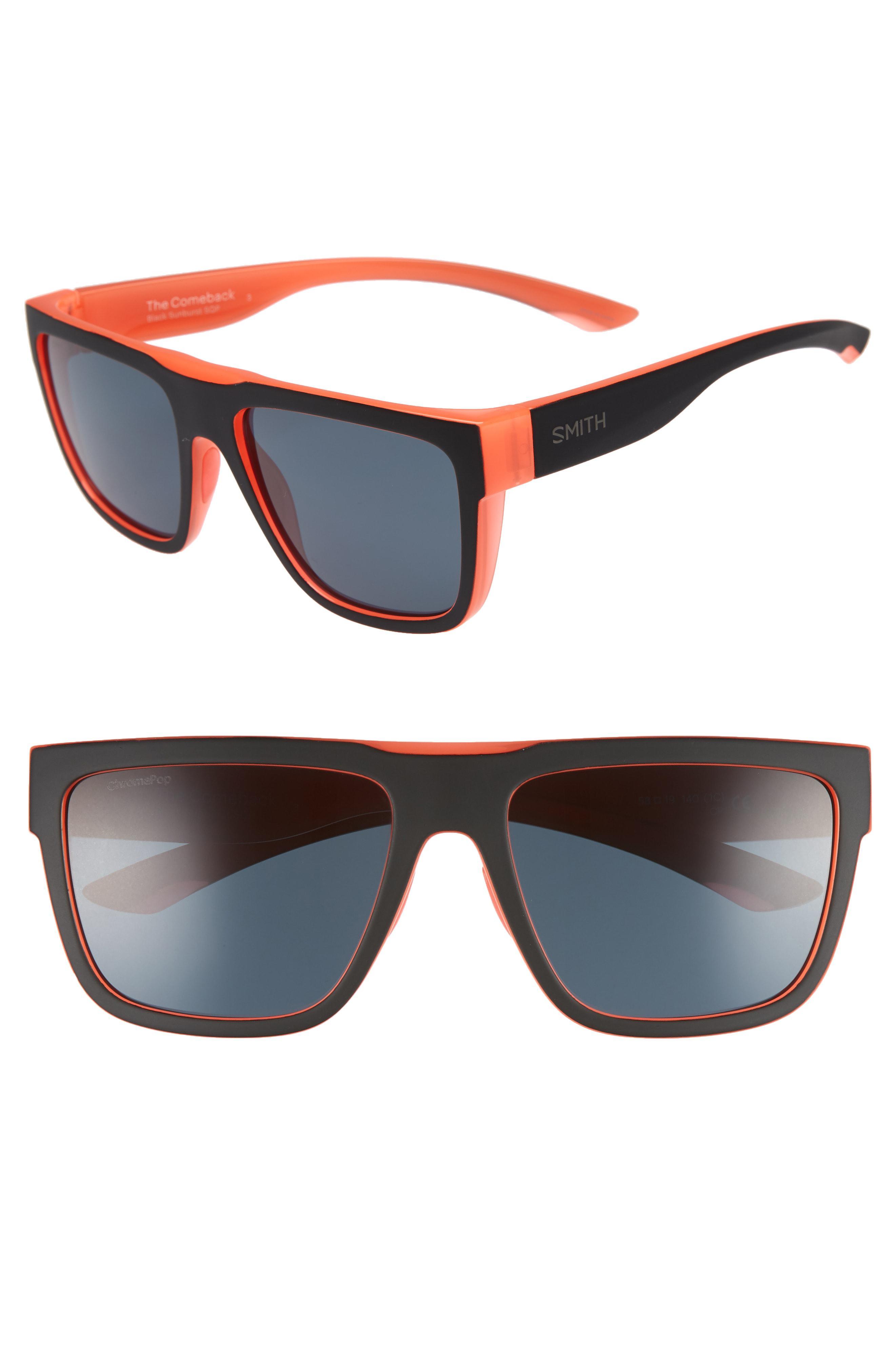 881d5c22dd Lyst - Smith The Comeback 58mm Chromapop(tm) Square Sunglasses in Black