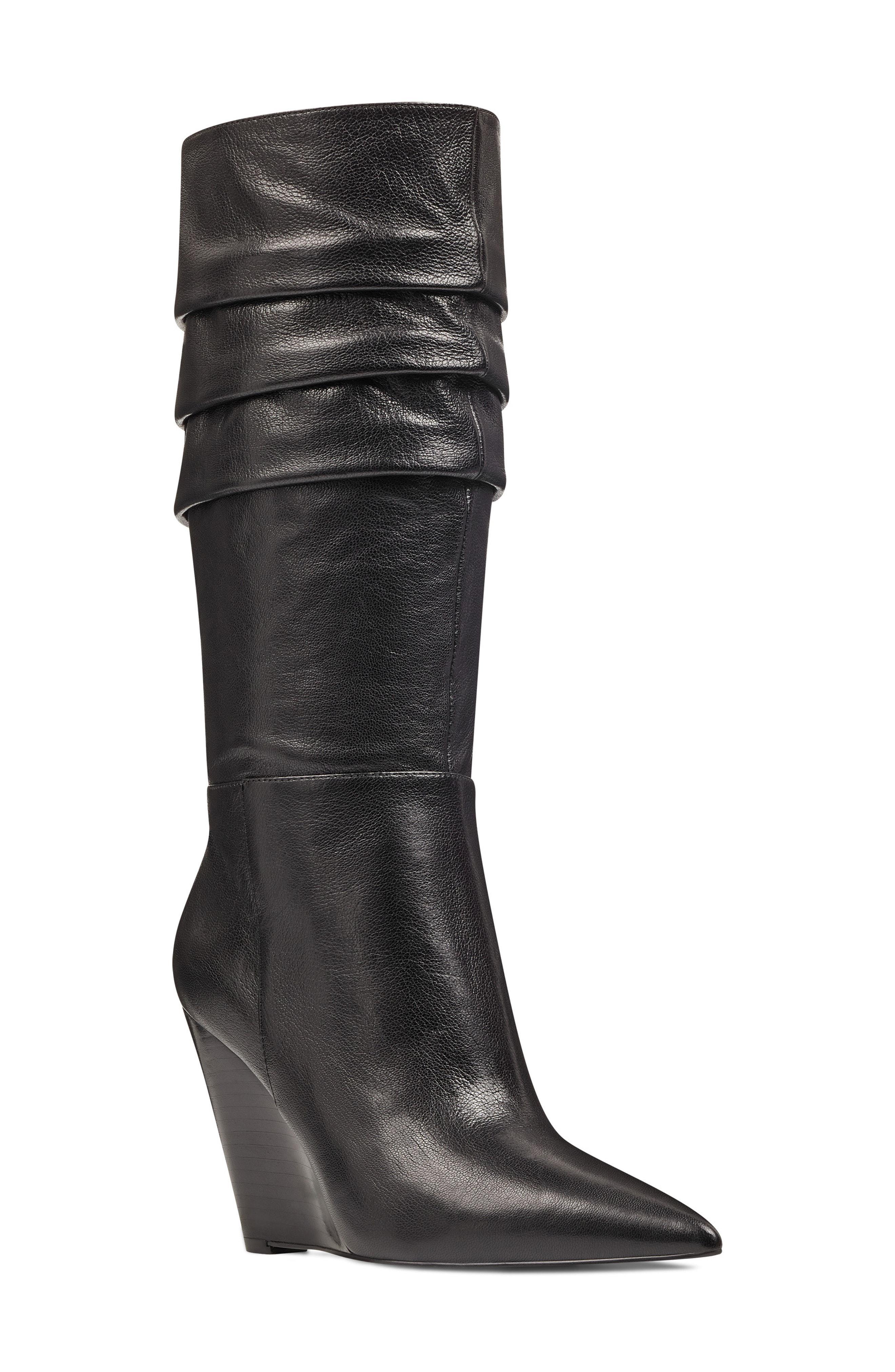 2b5d06ec6dd Nine West. Women s Vernese Tiered Knee High Wedge Boot