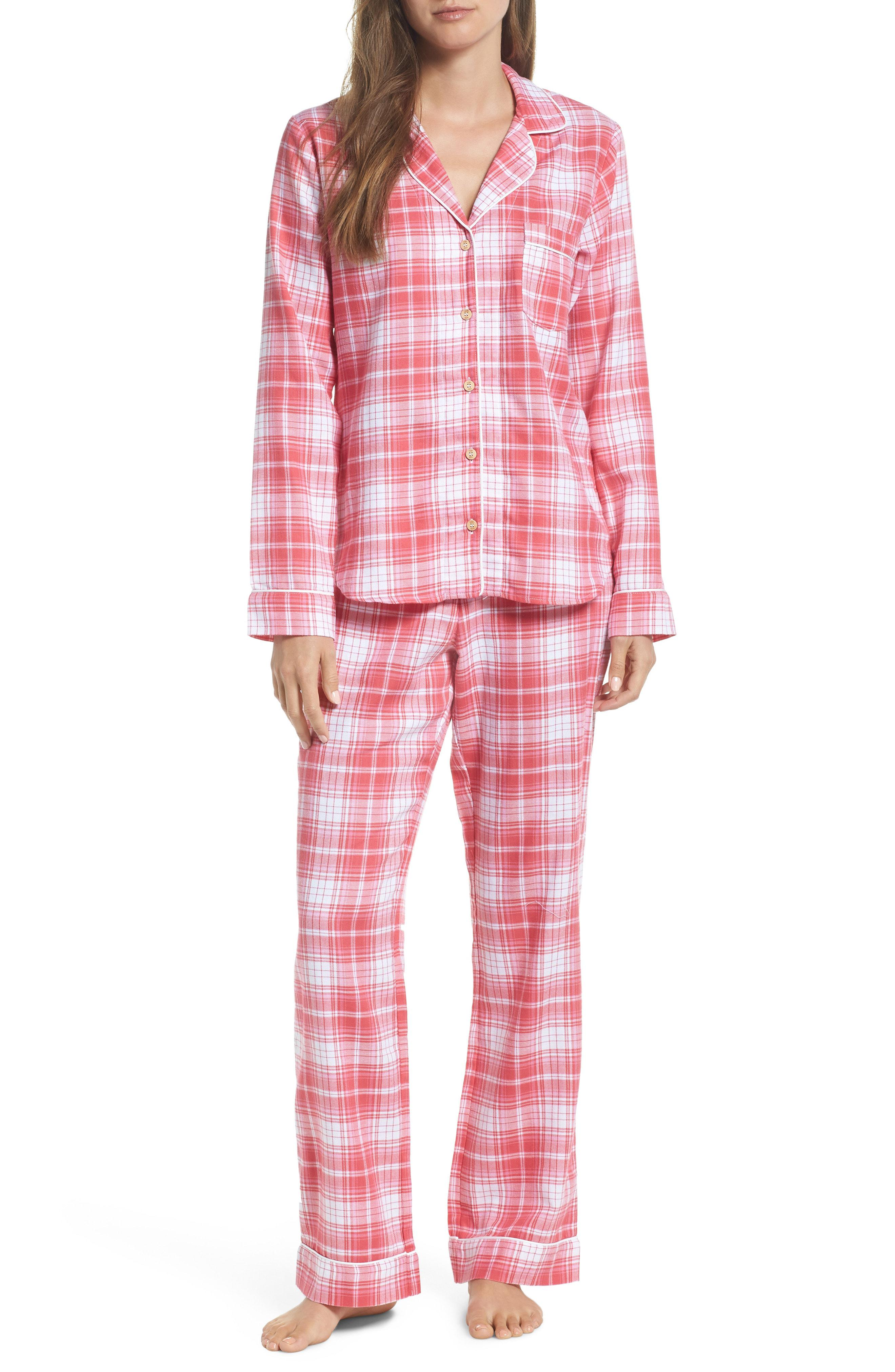 a0aa290277 Lyst - Ugg Ugg Raven Plaid Pajamas in Red