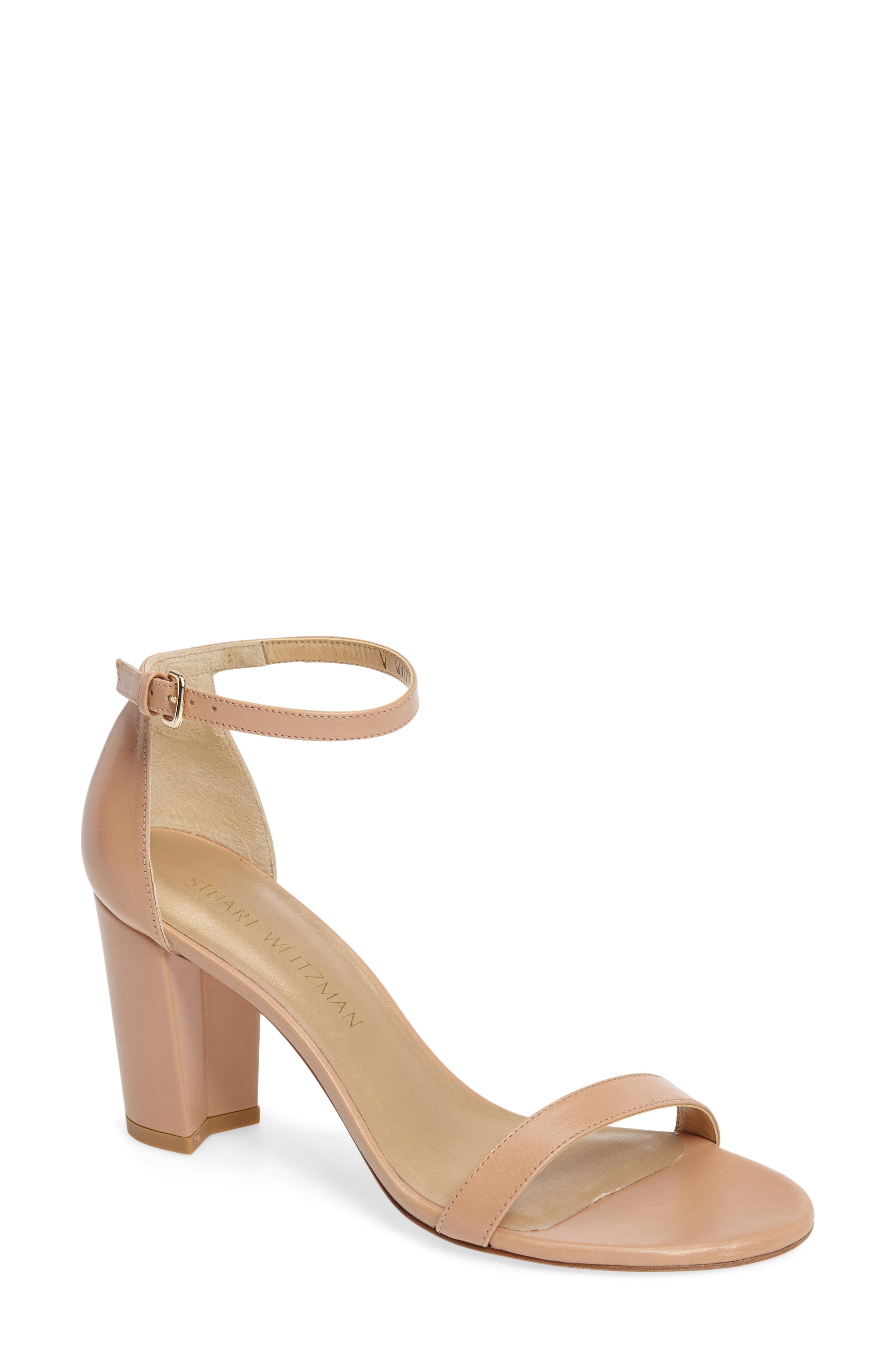 c8b0adcc6d5 Stuart Weitzman - Multicolor Nearlynude Ankle Strap Sandal - Lyst. View  fullscreen