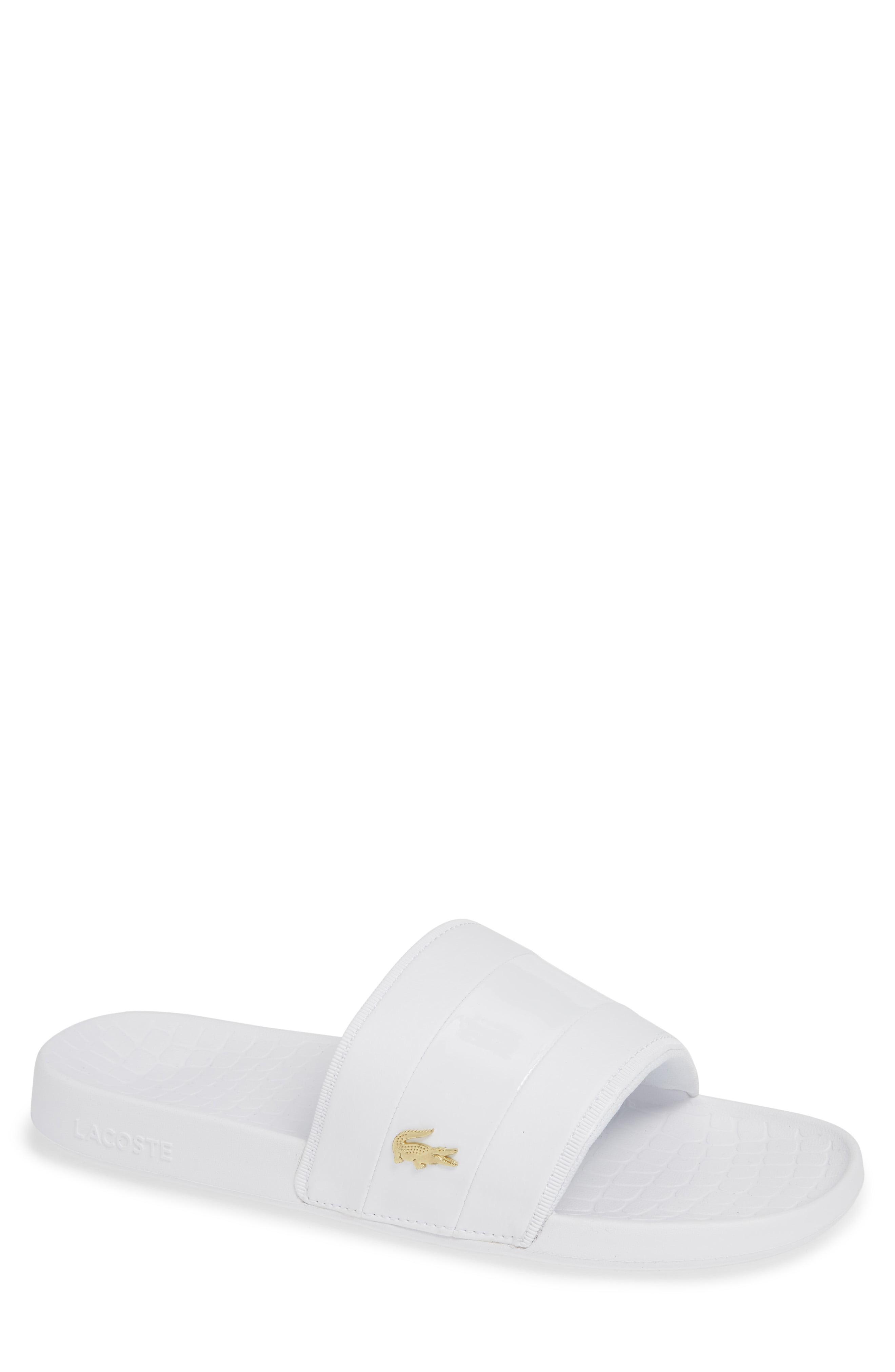 15974cd1c Lyst - Lacoste Fraisier 118 Slide Sandal in Black for Men - Save 33%