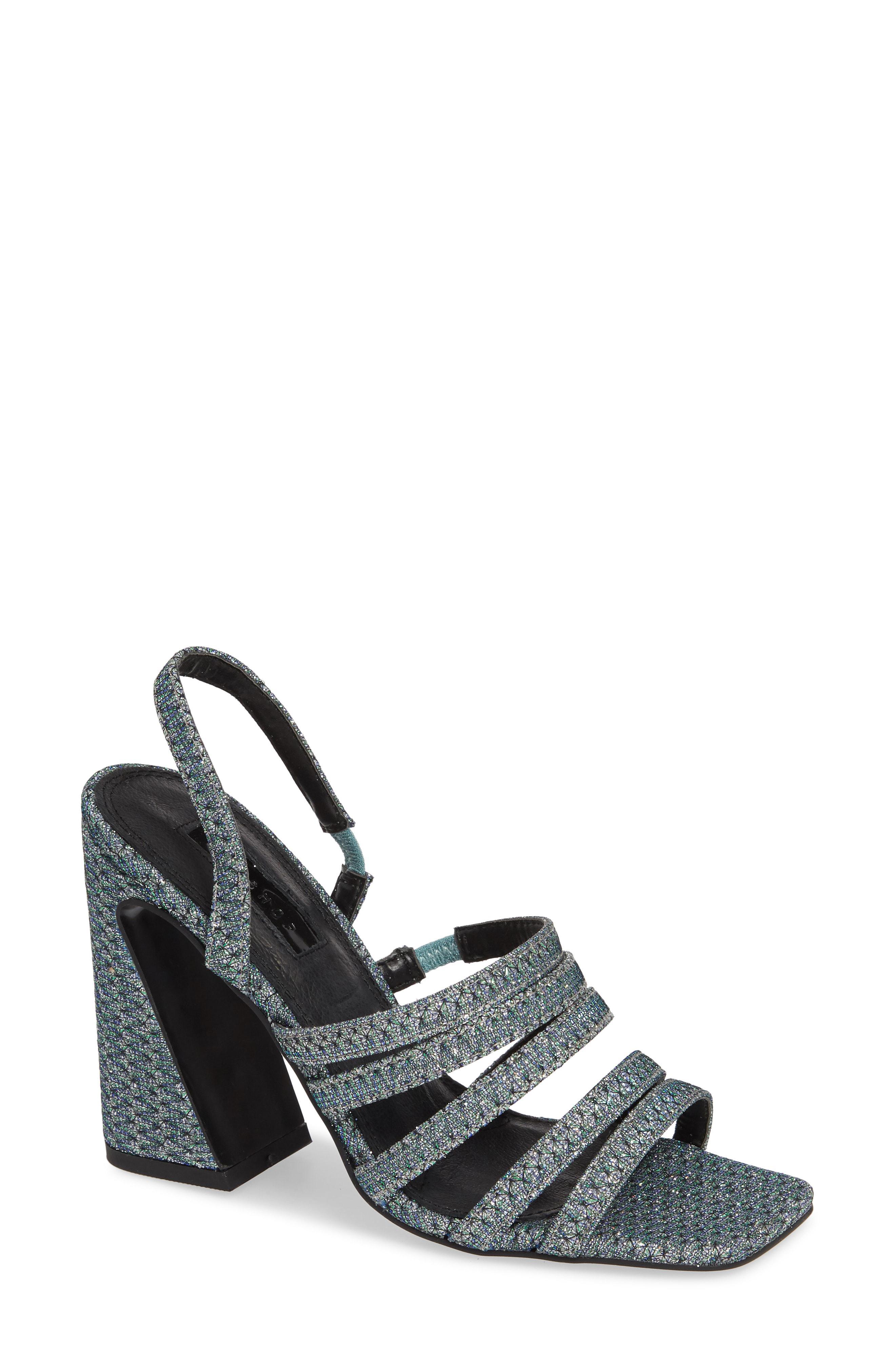6609edcb439807 Lyst - TOPSHOP Ray Strappy Slingback Sandal in Metallic