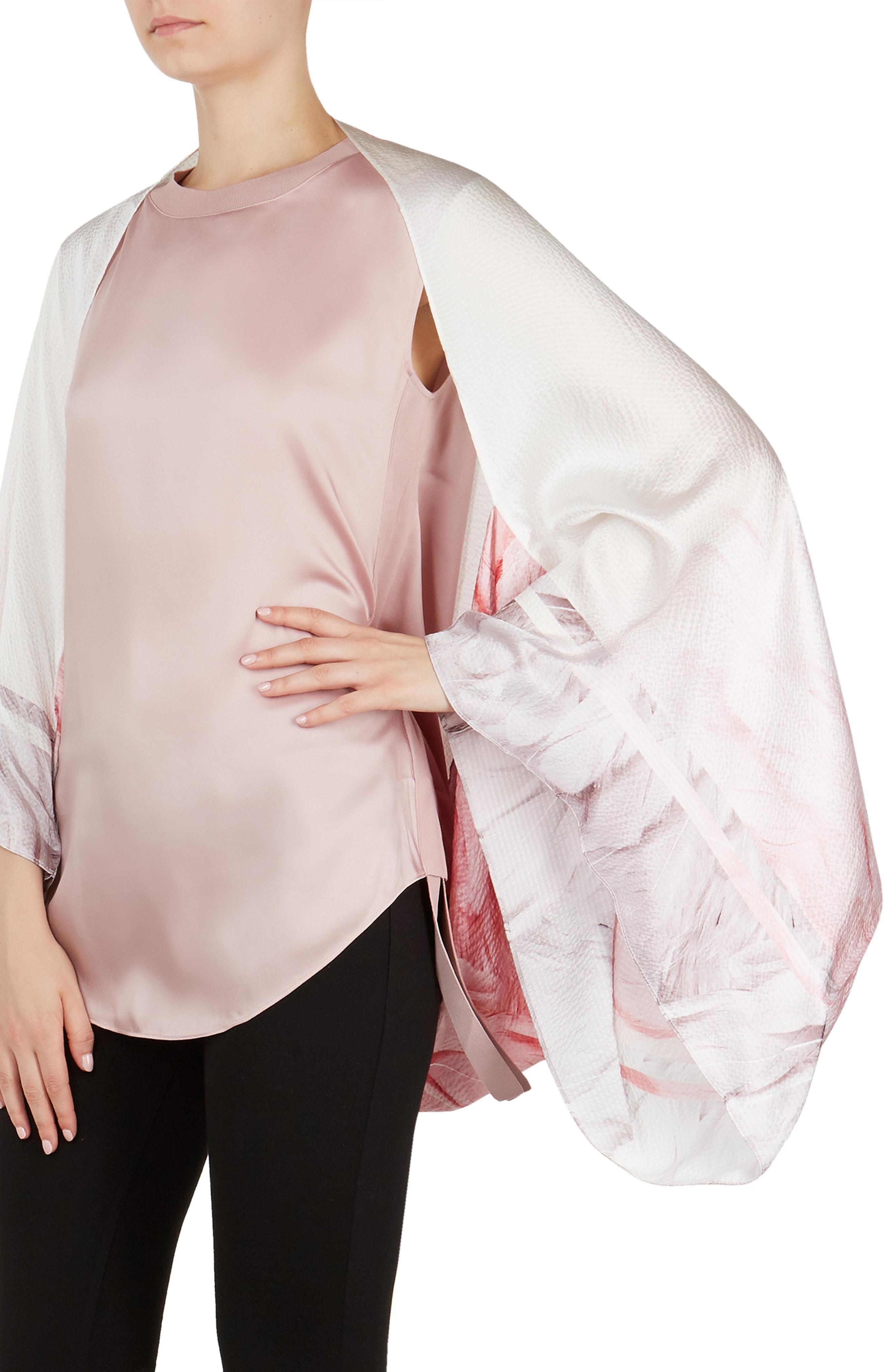 7f95d5c66466b Lyst - Ted Baker Angel Falls Silk Cape Scarf in White