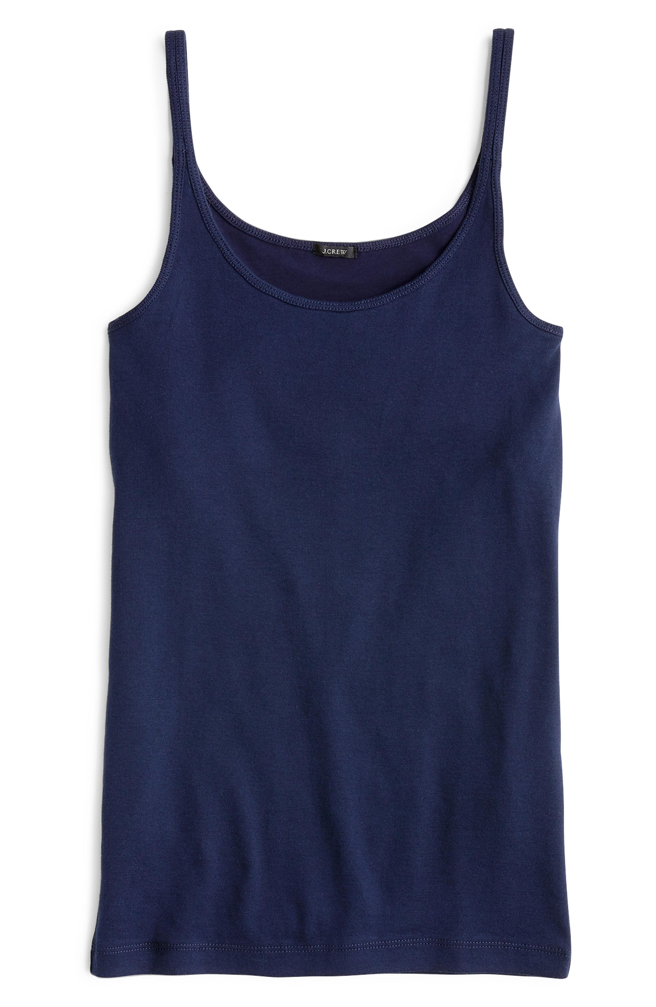 bc27fb1bdf330 Lyst - J.Crew Slim Perfect Fit Tank With Built-in Bra in Blue