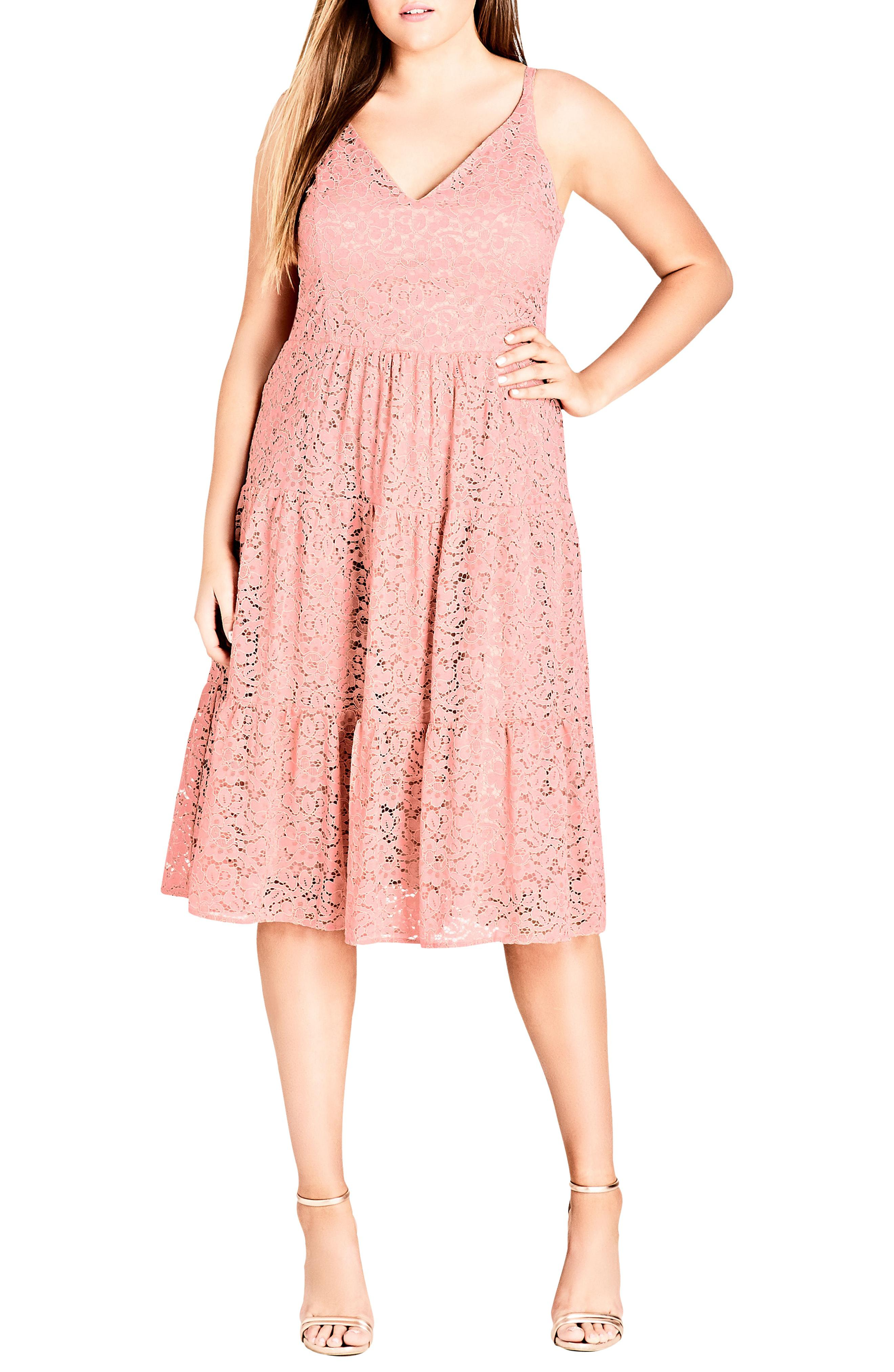 43ae455d744 Lyst - City Chic Sweet Kiss Dress in Pink - Save 50%