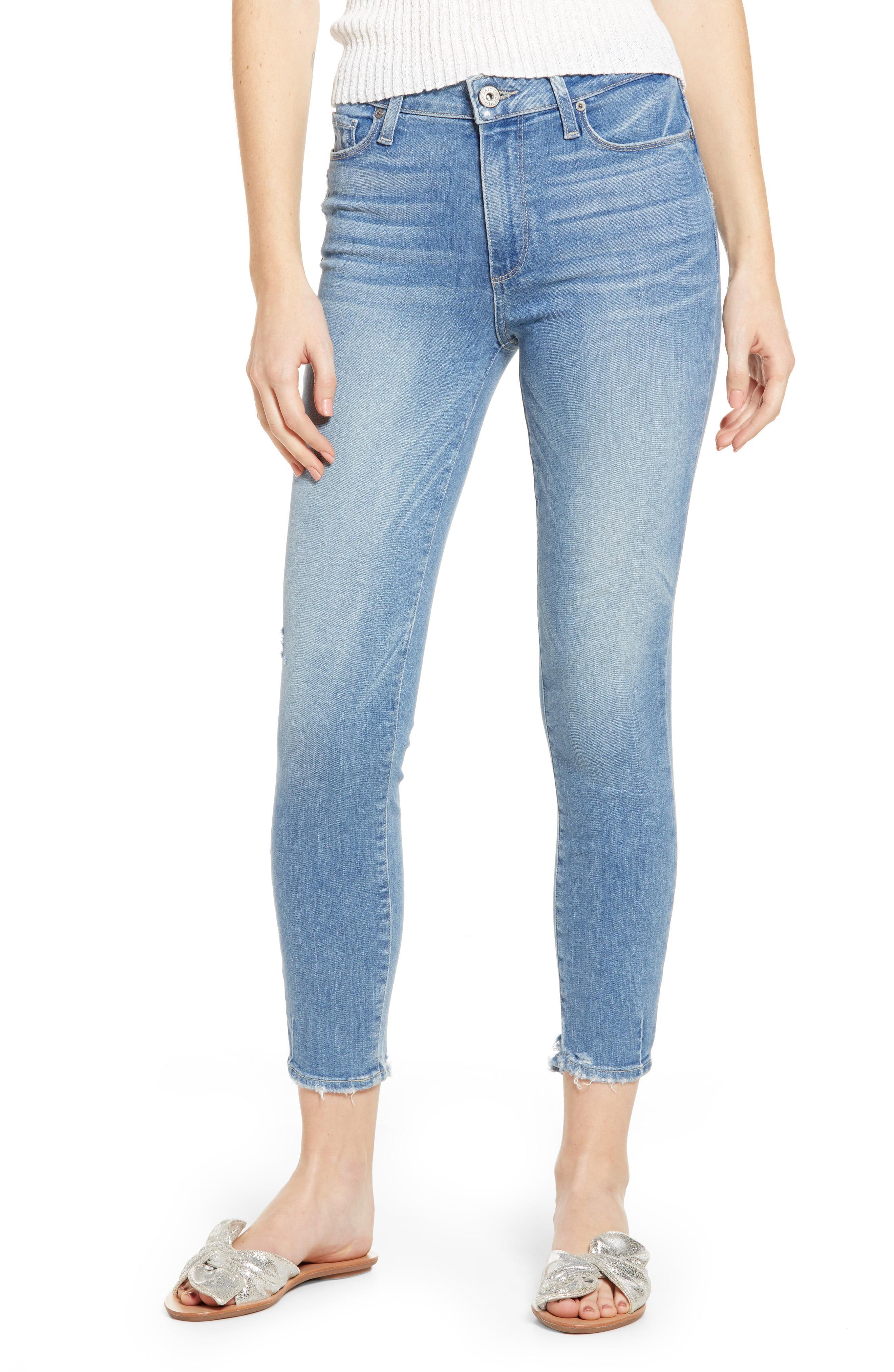 9a2dca7f5ef36 PAIGE. Women s Blue Hoxton Transcend Vintage High Waist Crop Skinny Jeans