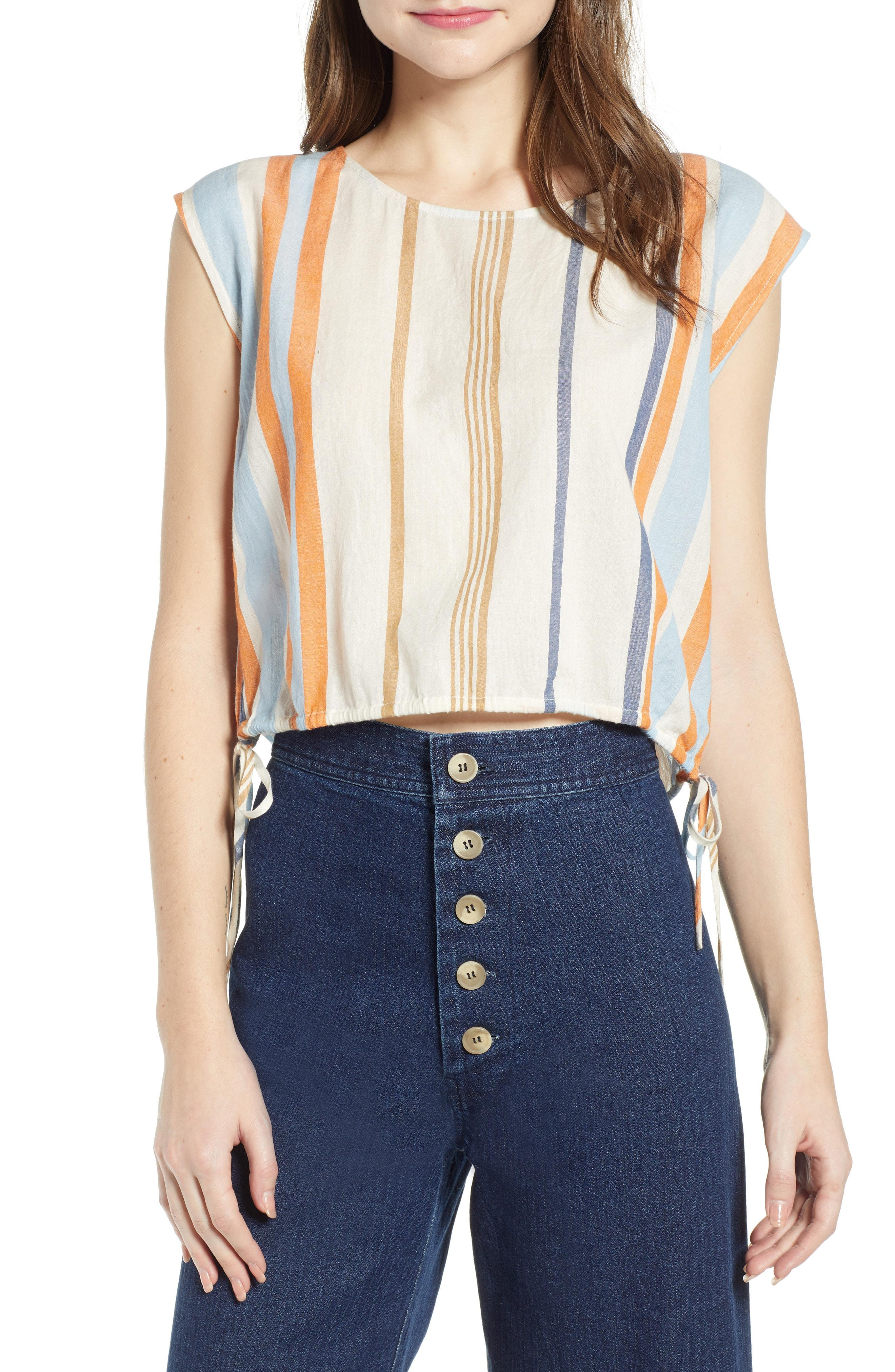 0d0b9e2330be9 Lyst - The Odells Crop Top in Blue