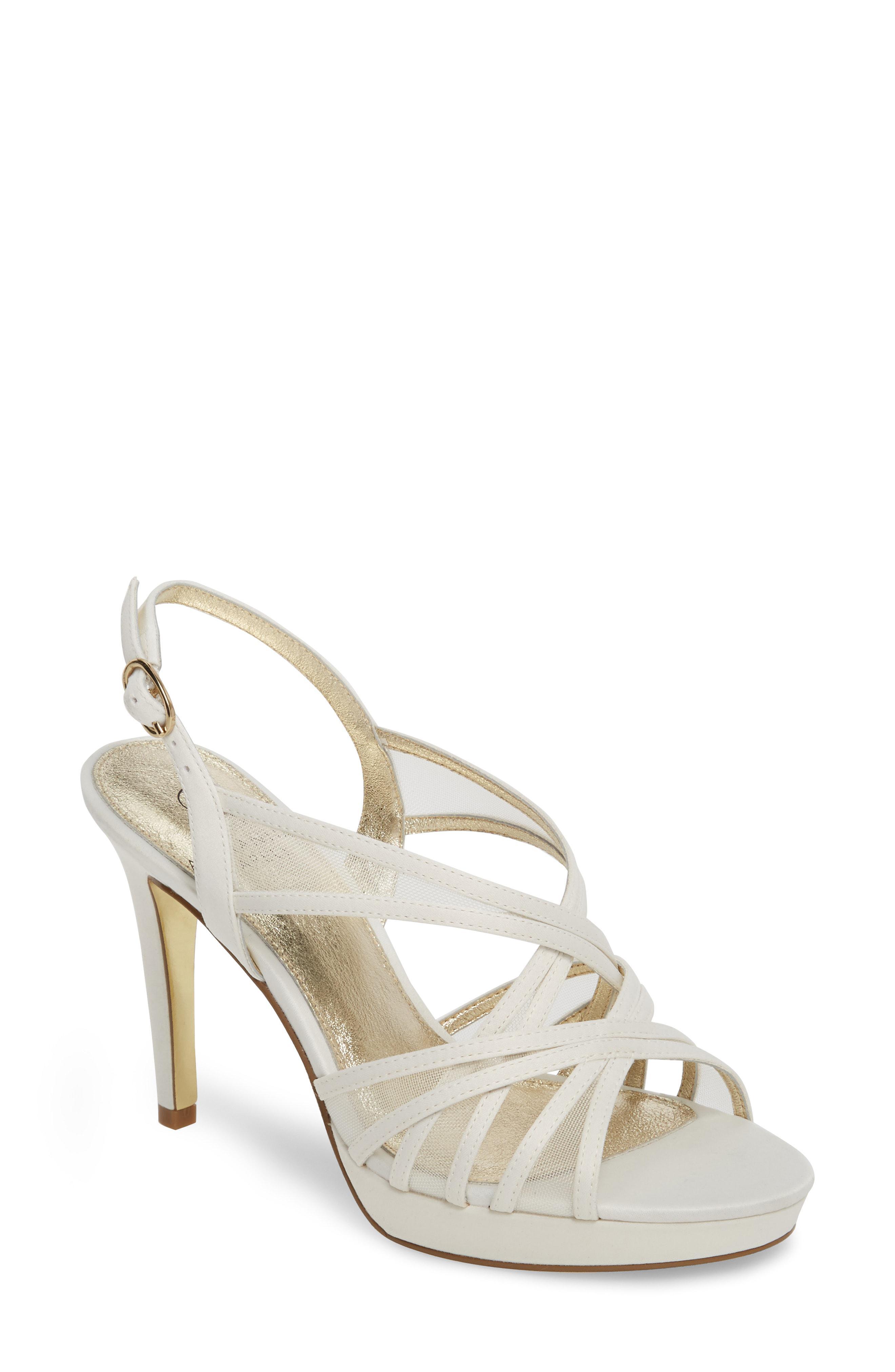 f3d6954a119 Lyst - Adrianna Papell Adri Platform Sandal in Metallic