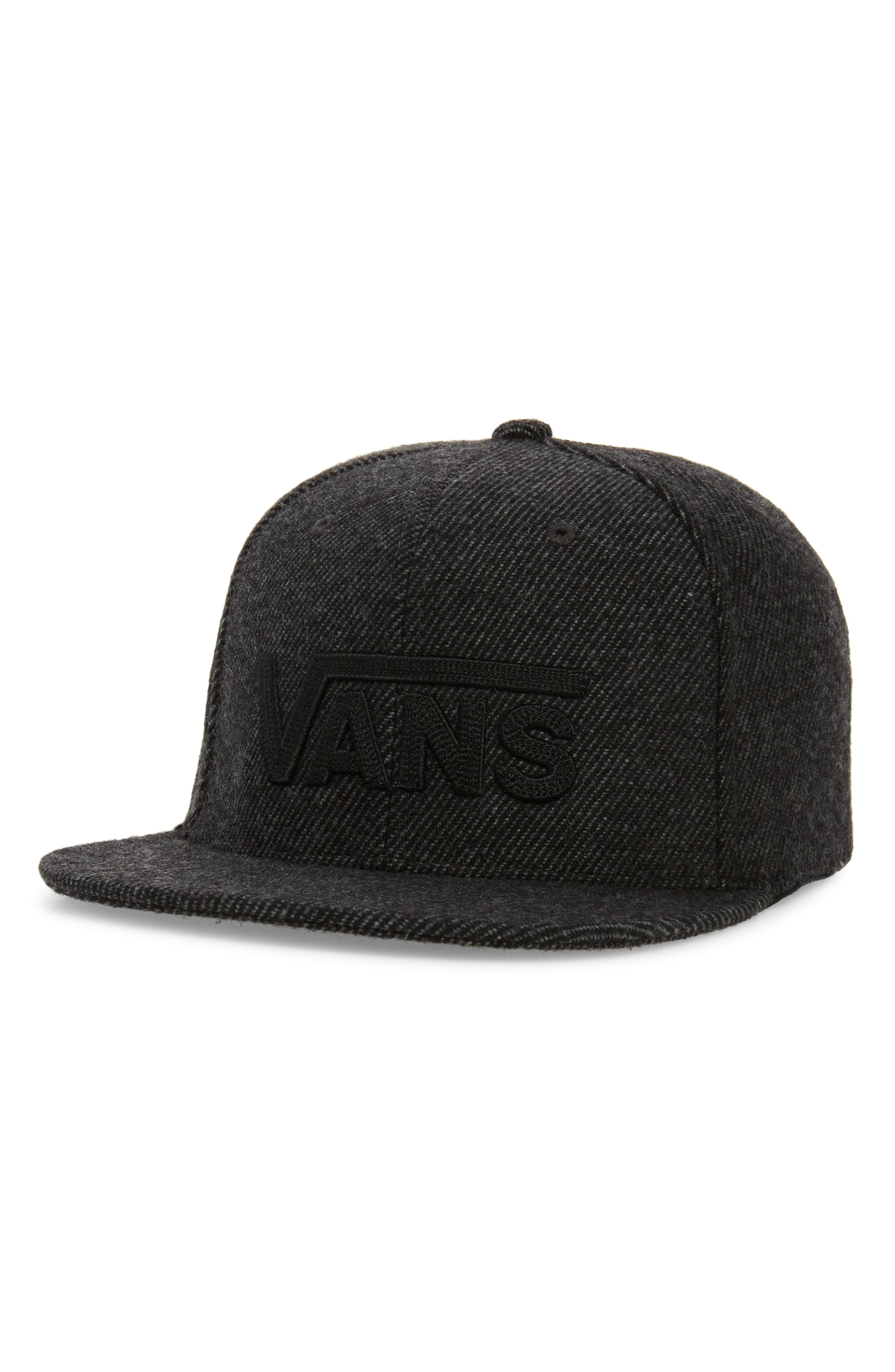Lyst - Vans Drop V Ii Wool Blend Cap in Black for Men 98768cb81e0